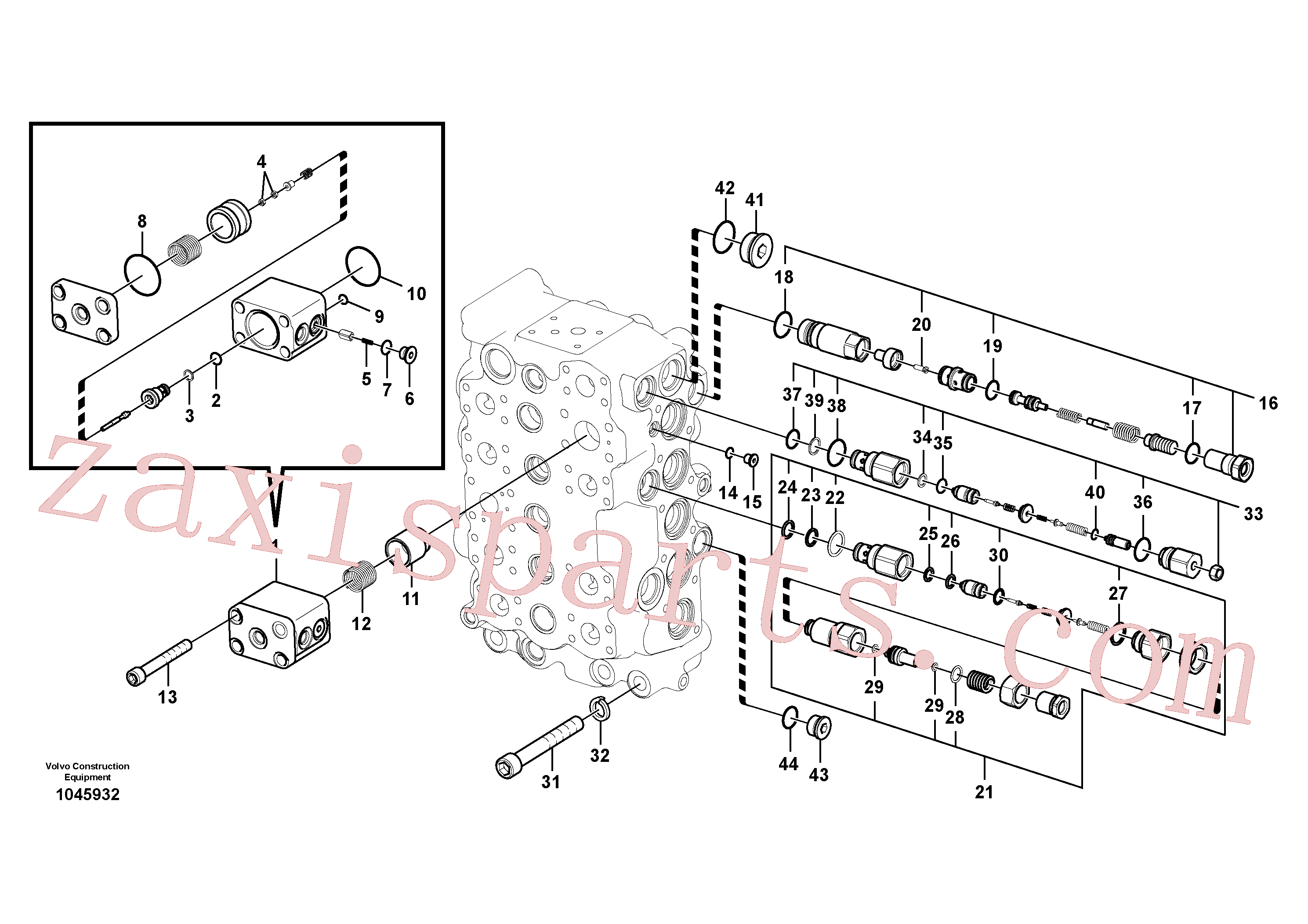 VOE14702865 for Volvo Main control valve(1045932 assembly)