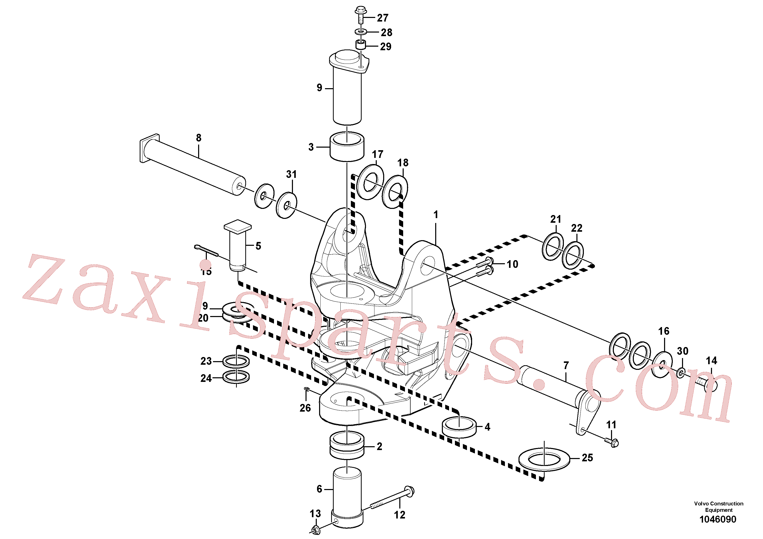 VOE15611612 for Volvo Pivot pin(1046090 assembly)