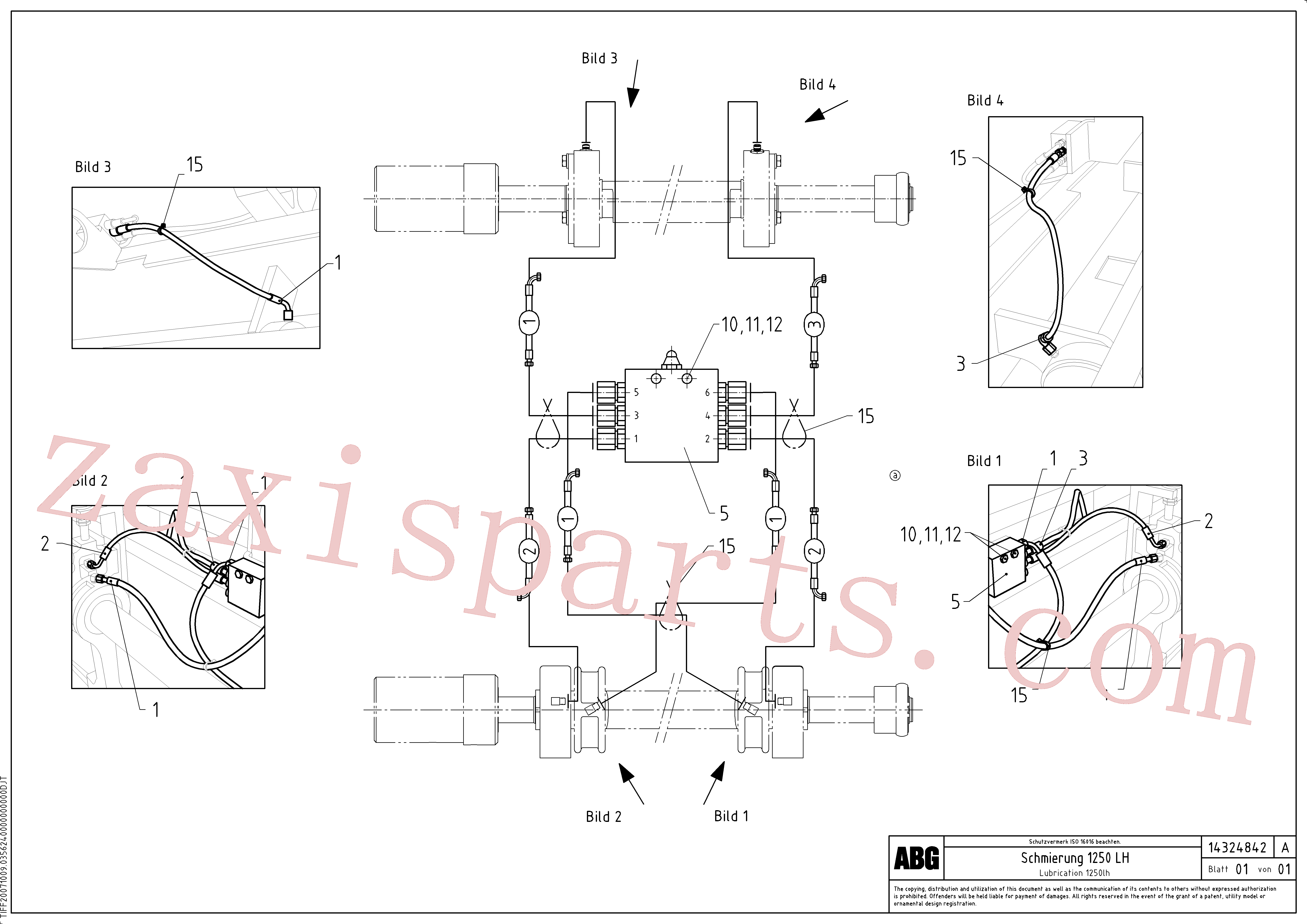 RM54513015 for Volvo Lubrication for extension(1046318 assembly)