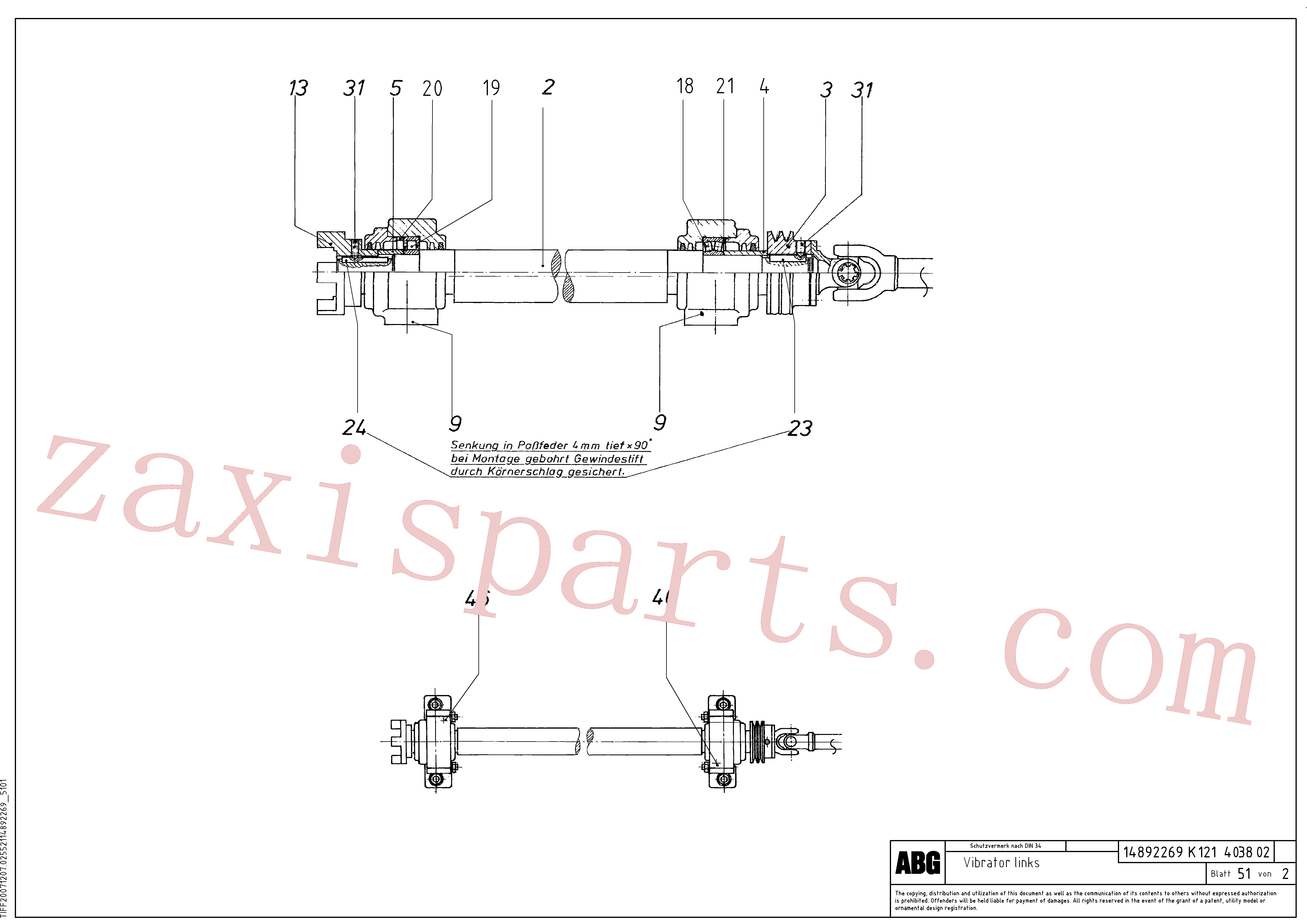 RM58831355 for Volvo Vibrator for basic screed(1046541 assembly)