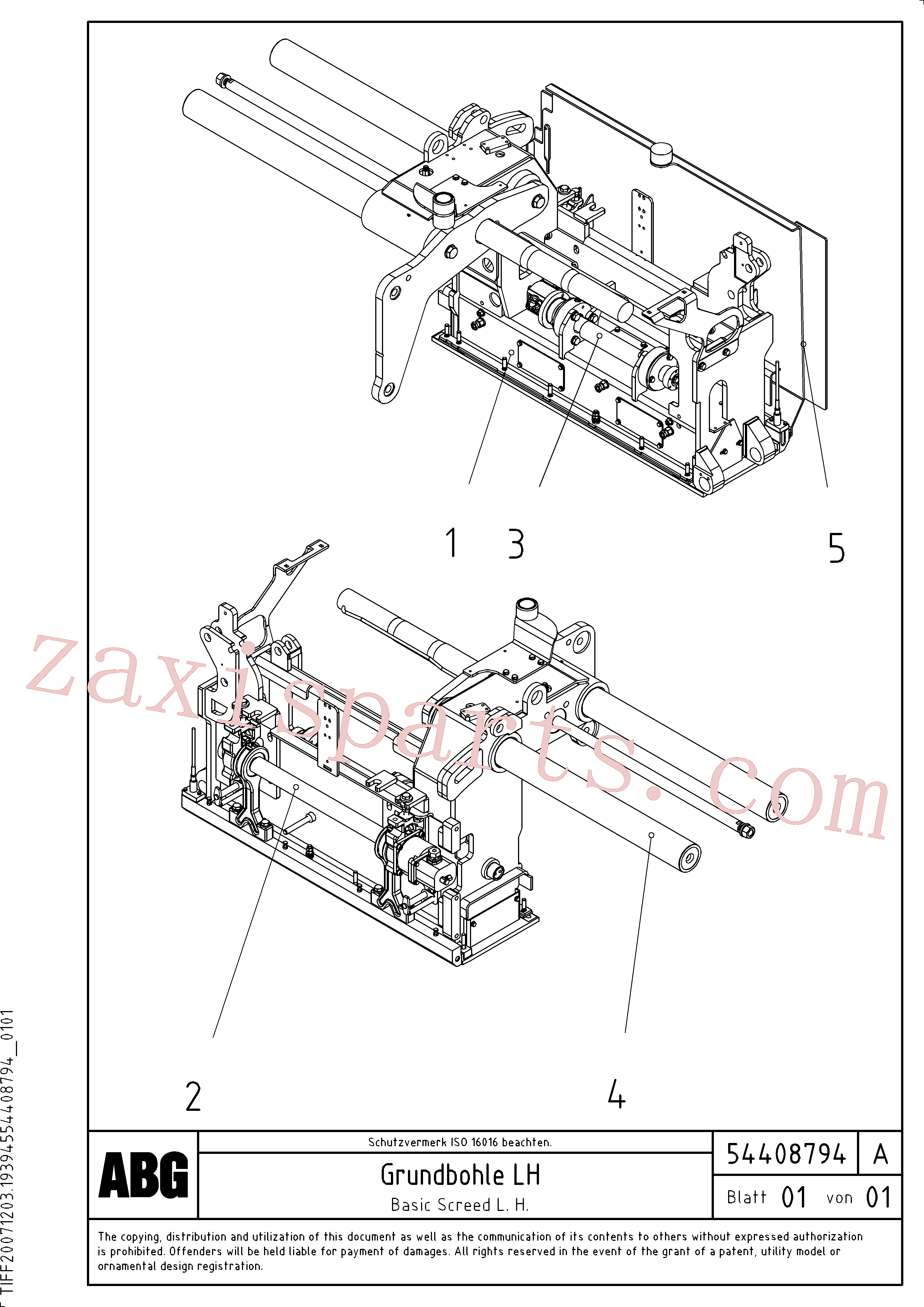 RM56294457 for Volvo Basic screed(1046556 assembly)