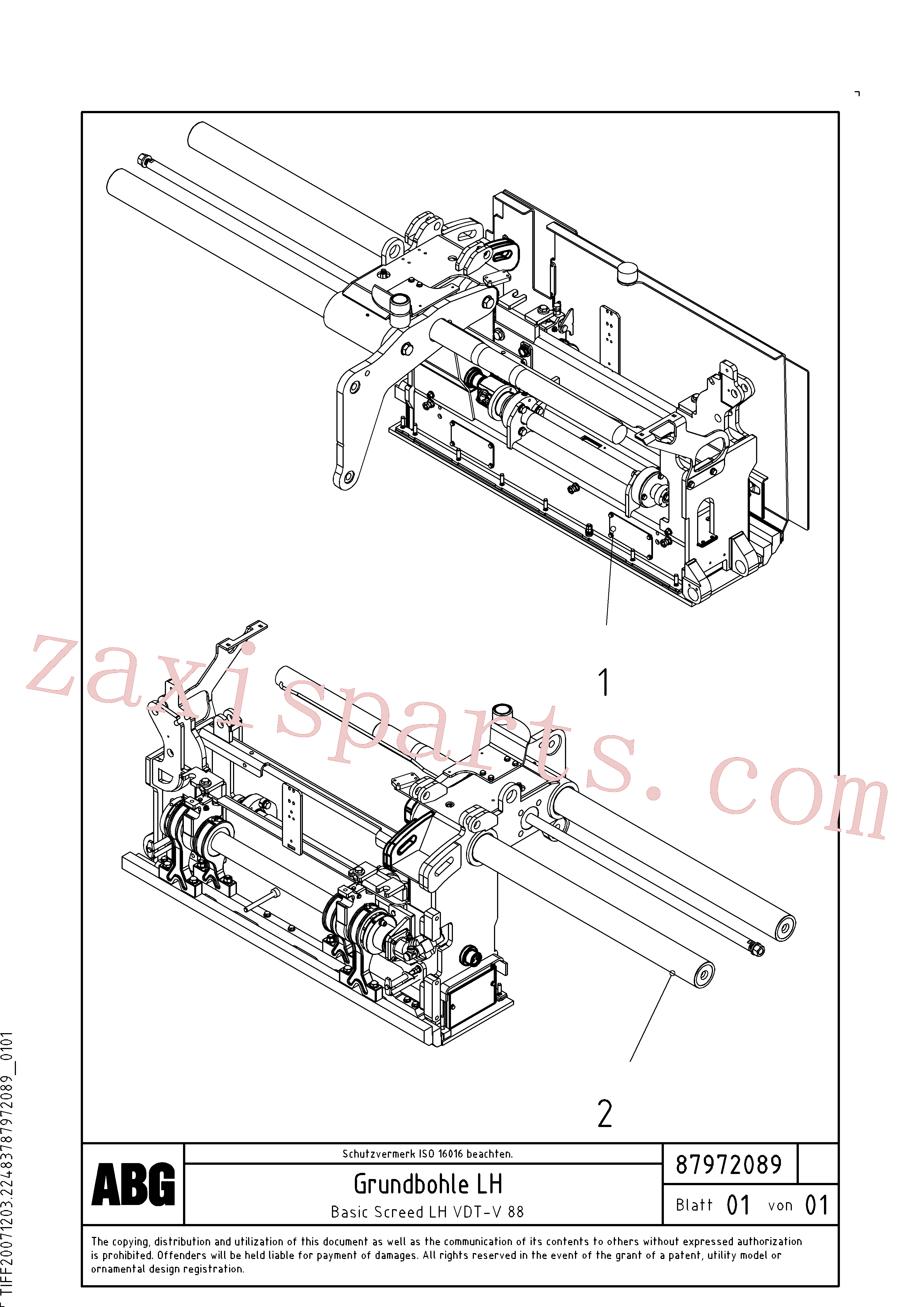 RM80668676 for Volvo Basic screed(1048165 assembly)