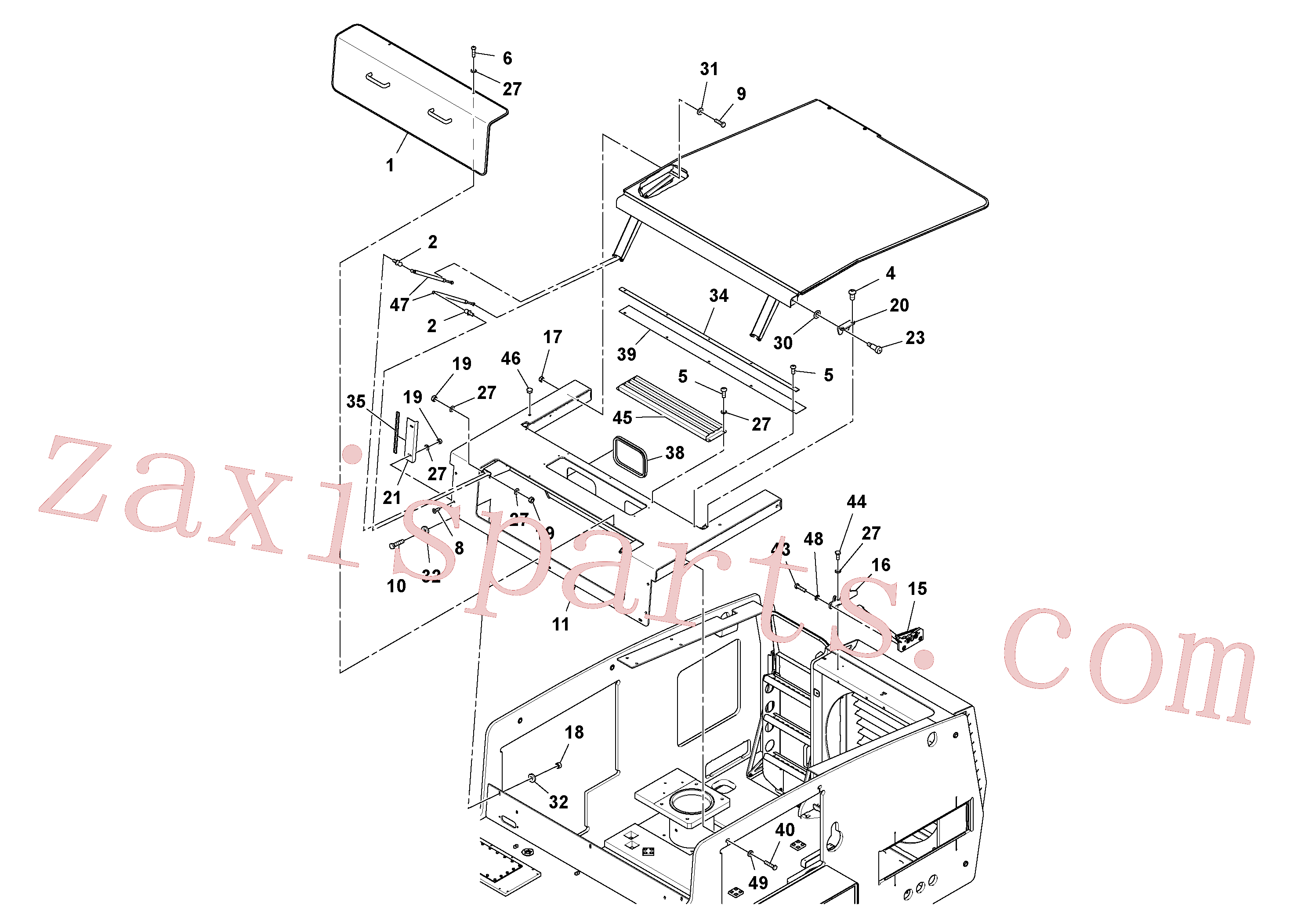 VOE978951 for Volvo Hood Assembly(1048397 assembly)