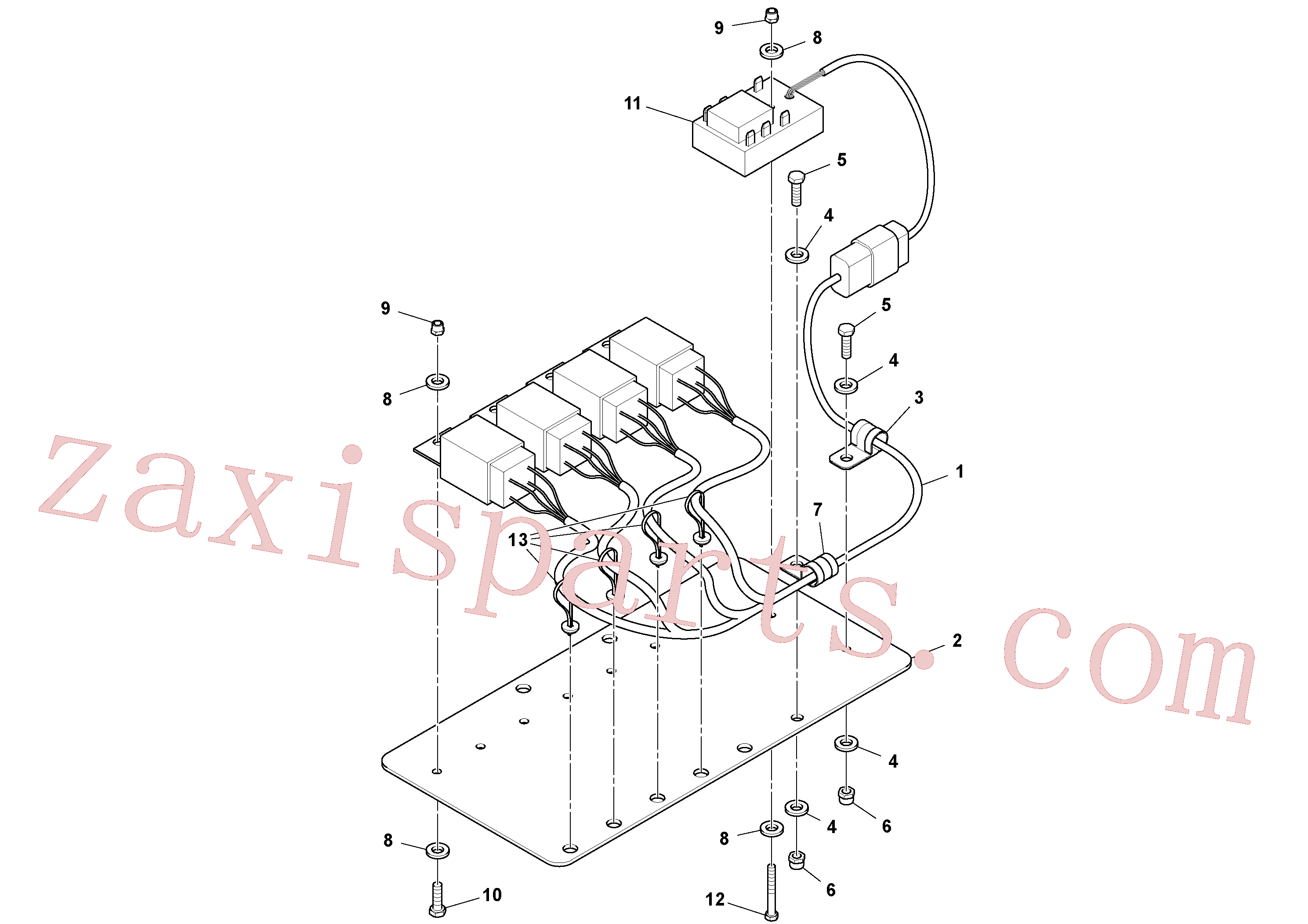 RM58820168 for Volvo Relay Panel Assembly(1049076 assembly)