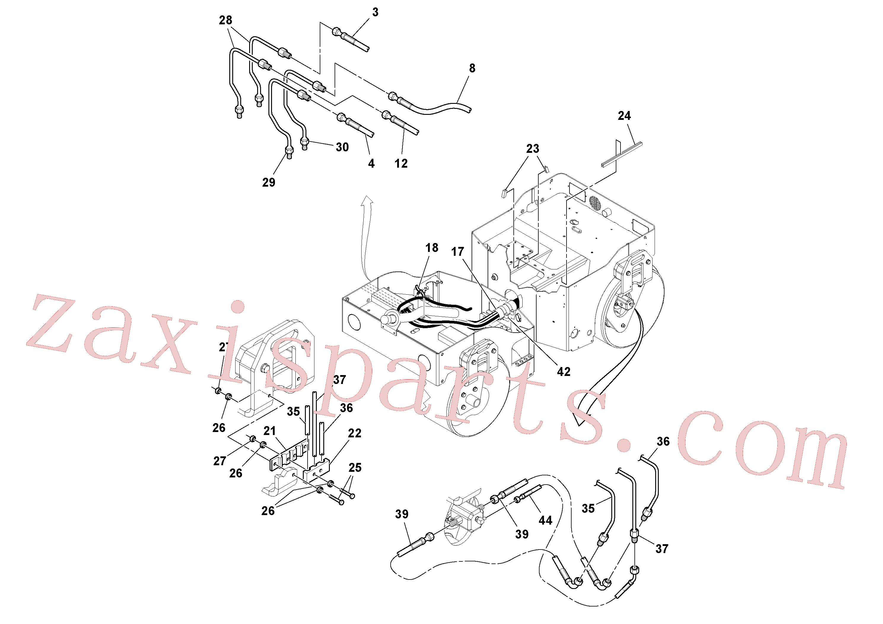 RM59151175 for Volvo Hydraulic Hoses/Tube Clamp Installation(1049176 assembly)