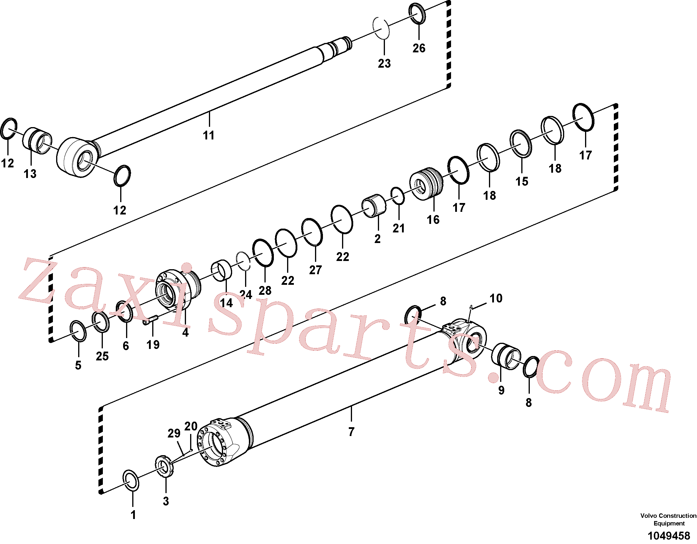 VOE14563976 for Volvo Boom cylinder(1049458 assembly)