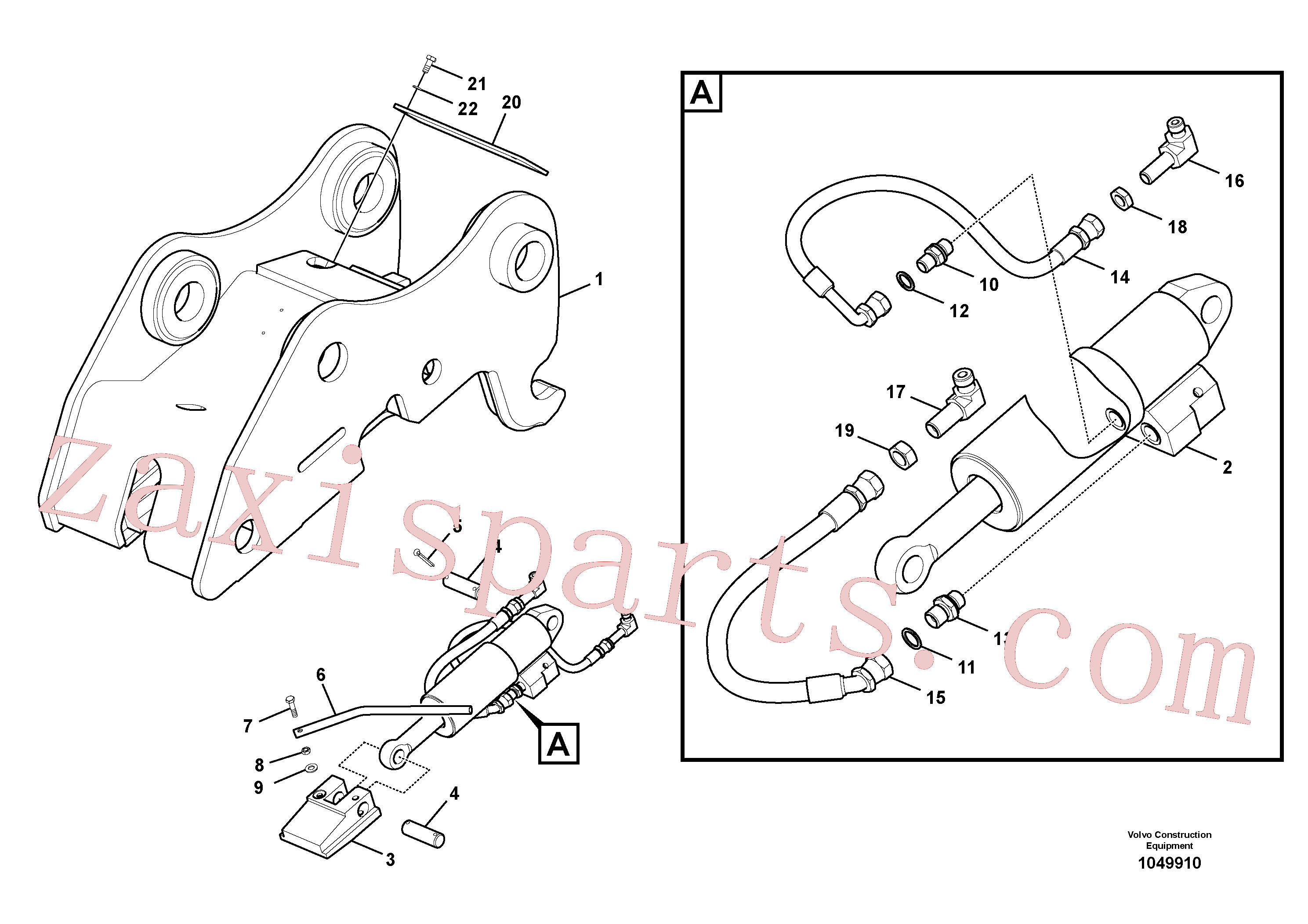 VOE14607731 for Volvo Attachment bracket, quickfit(1049910 assembly)