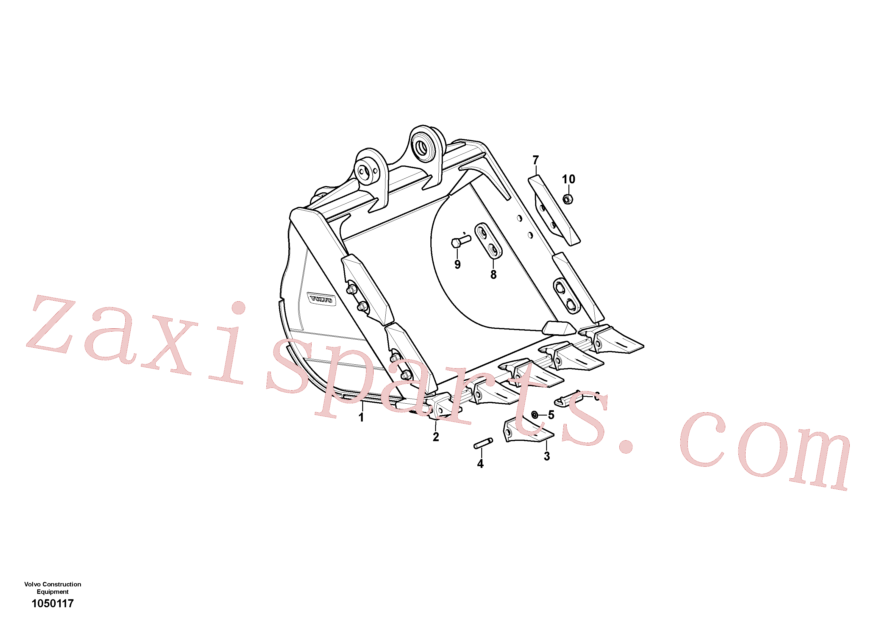 VOE14536343 for Volvo Bucket(1050117 assembly)