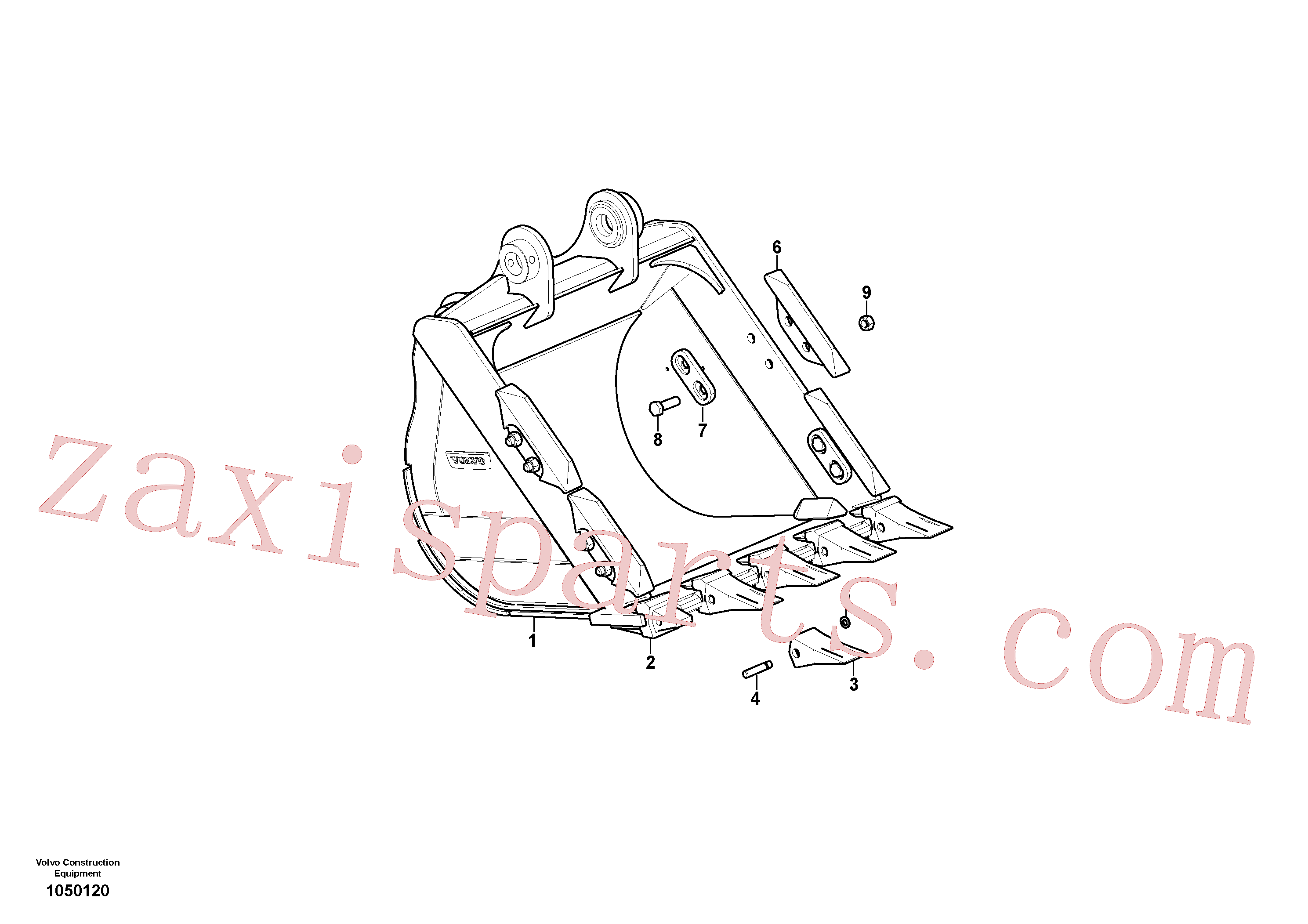 VOE14536343 for Volvo Bucket(1050120 assembly)
