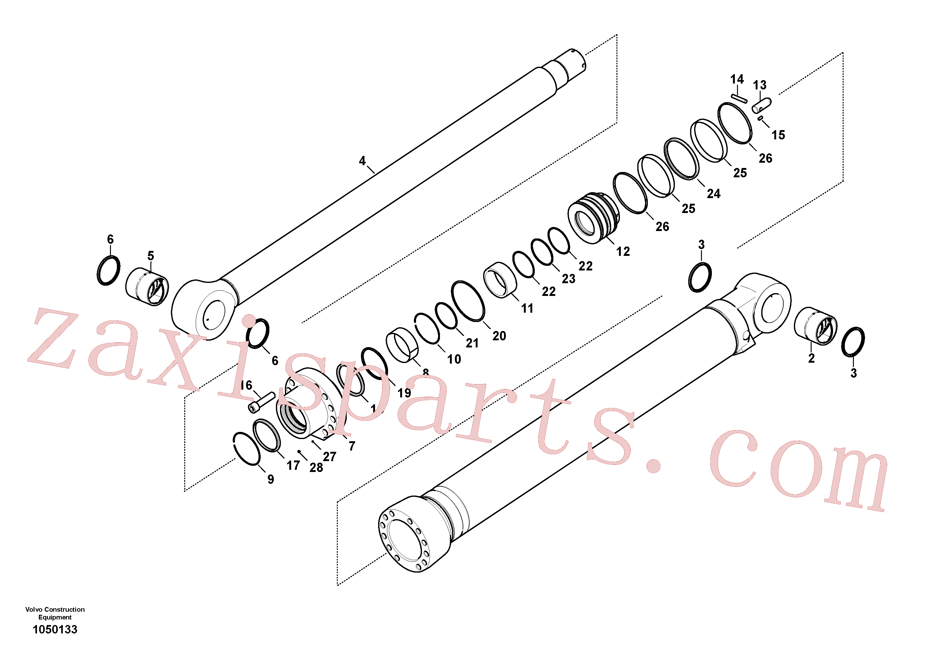 VOE14588456 for Volvo Dipper arm cylinder(1050133 assembly)