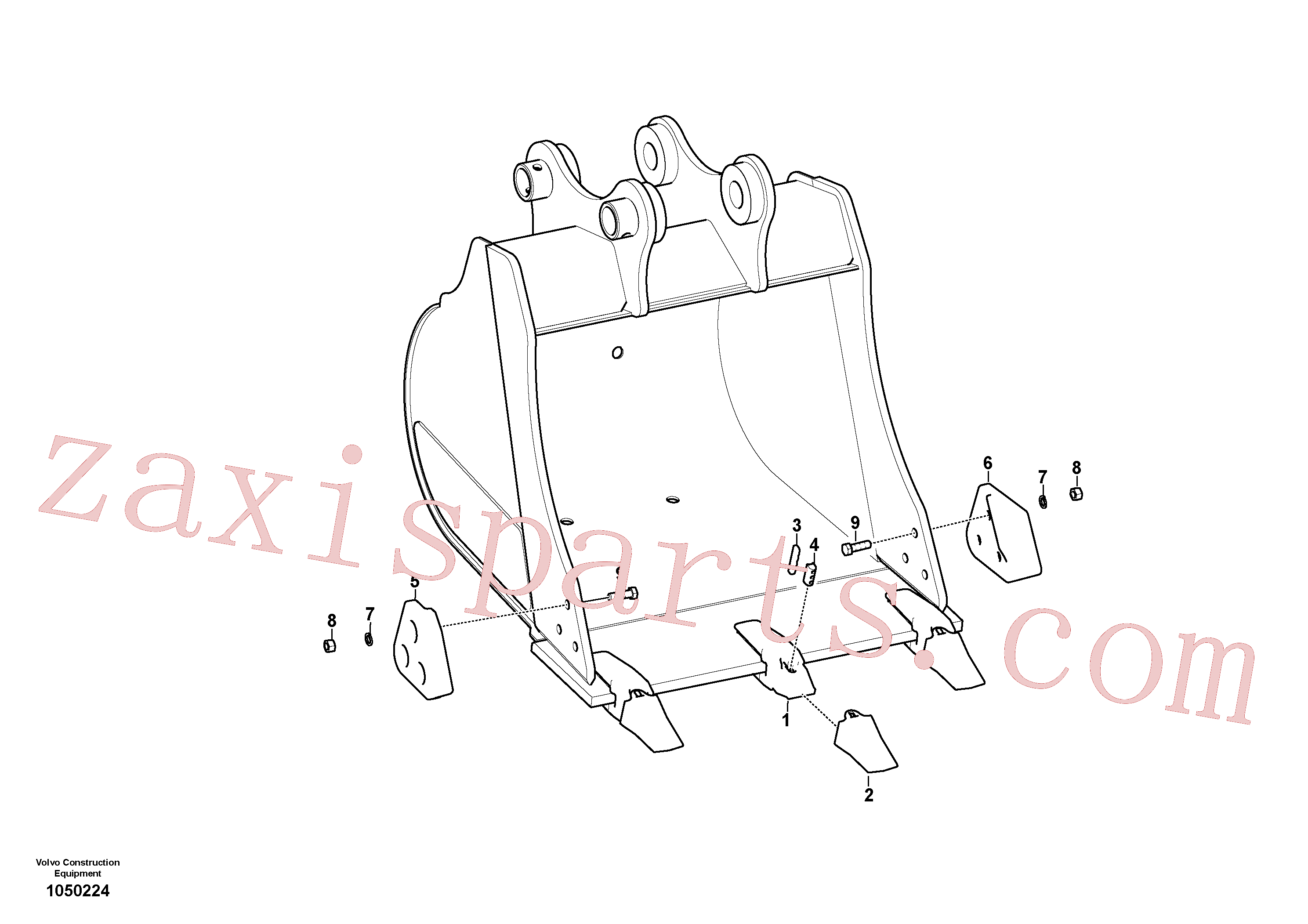 SA1071-01840 for Volvo Bucket(1050224 assembly)