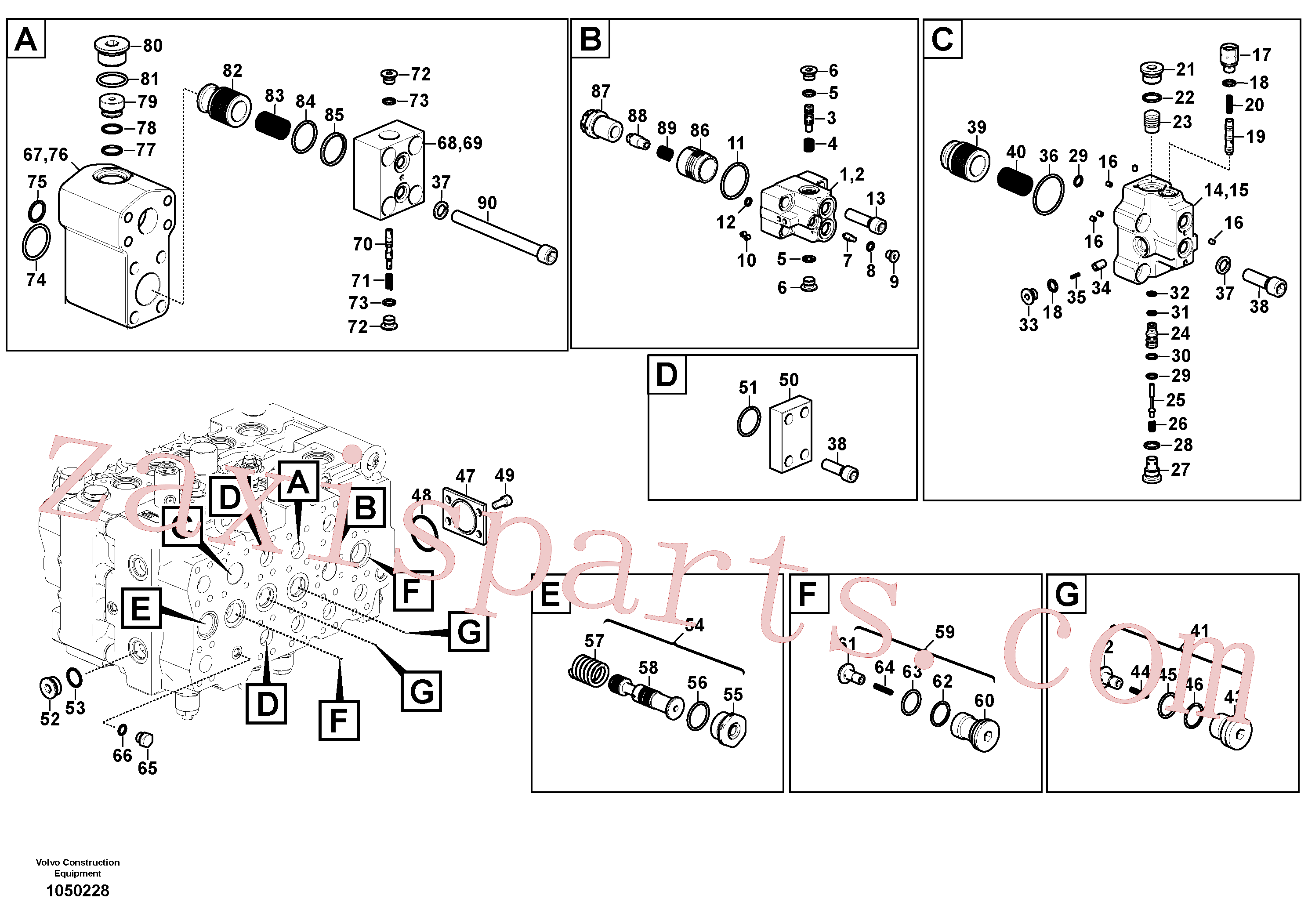 VOE14645871 for Volvo Main control valve(1050228 assembly)