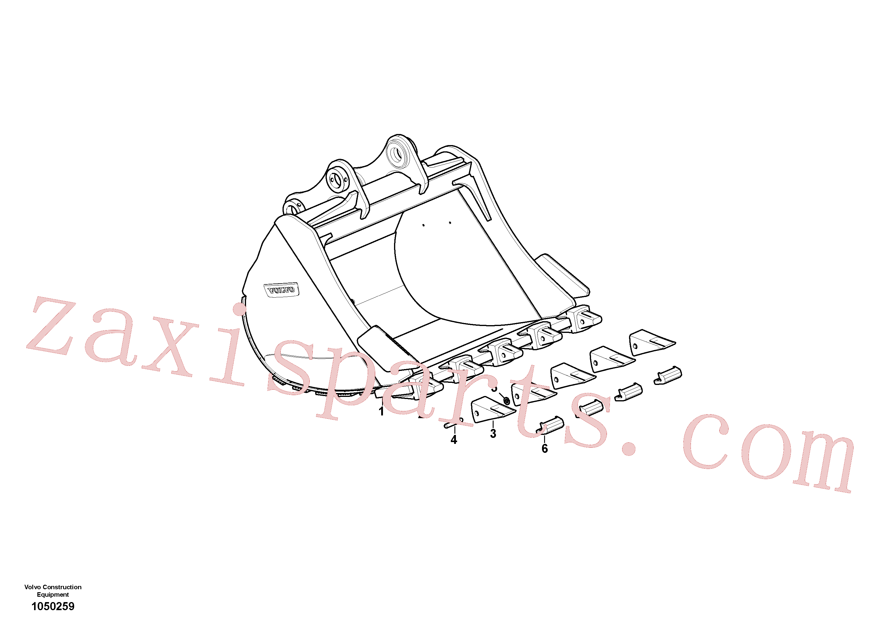 VOE14540729 for Volvo Bucket(1050259 assembly)