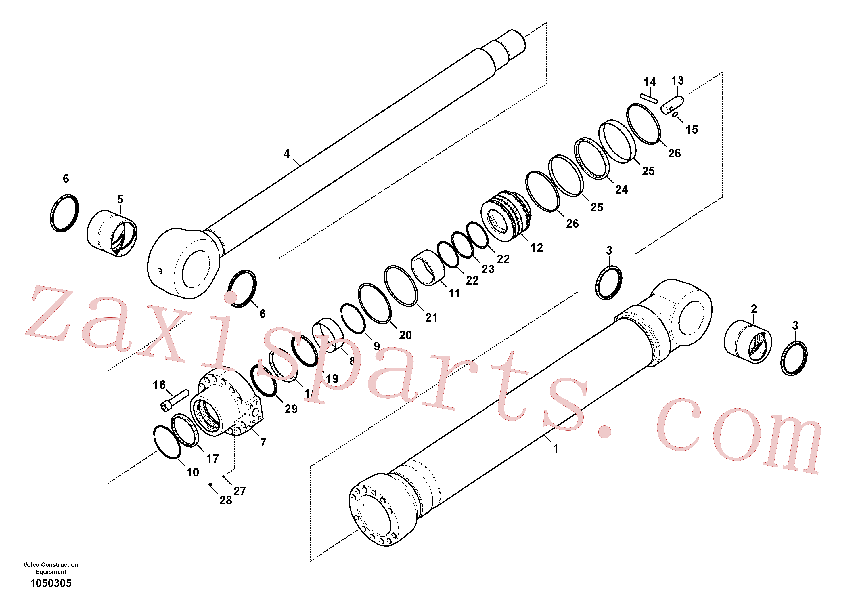 VOE14588456 for Volvo Bucket cylinder(1050305 assembly)