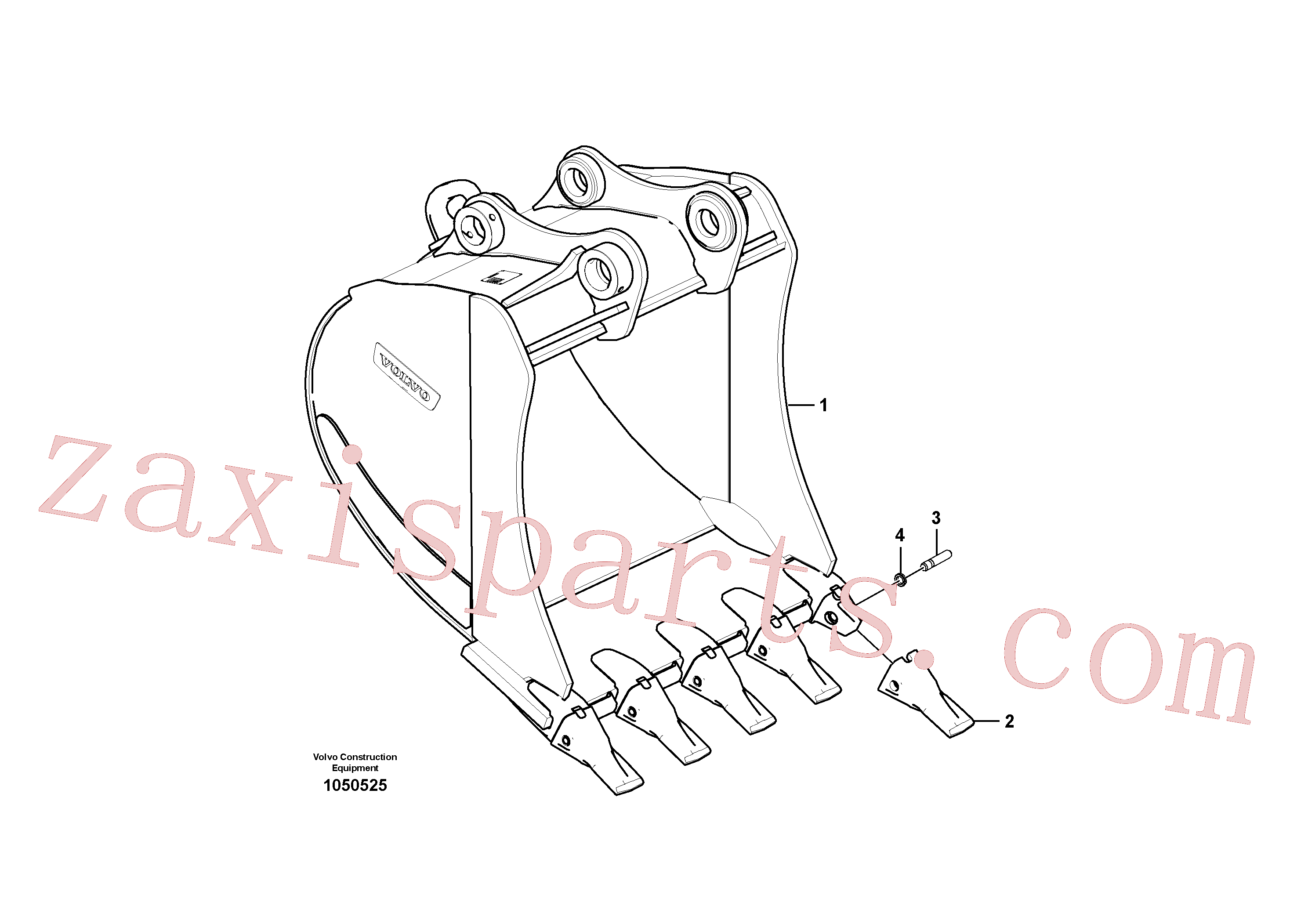 VOE14540729 for Volvo Bucket(1050525 assembly)