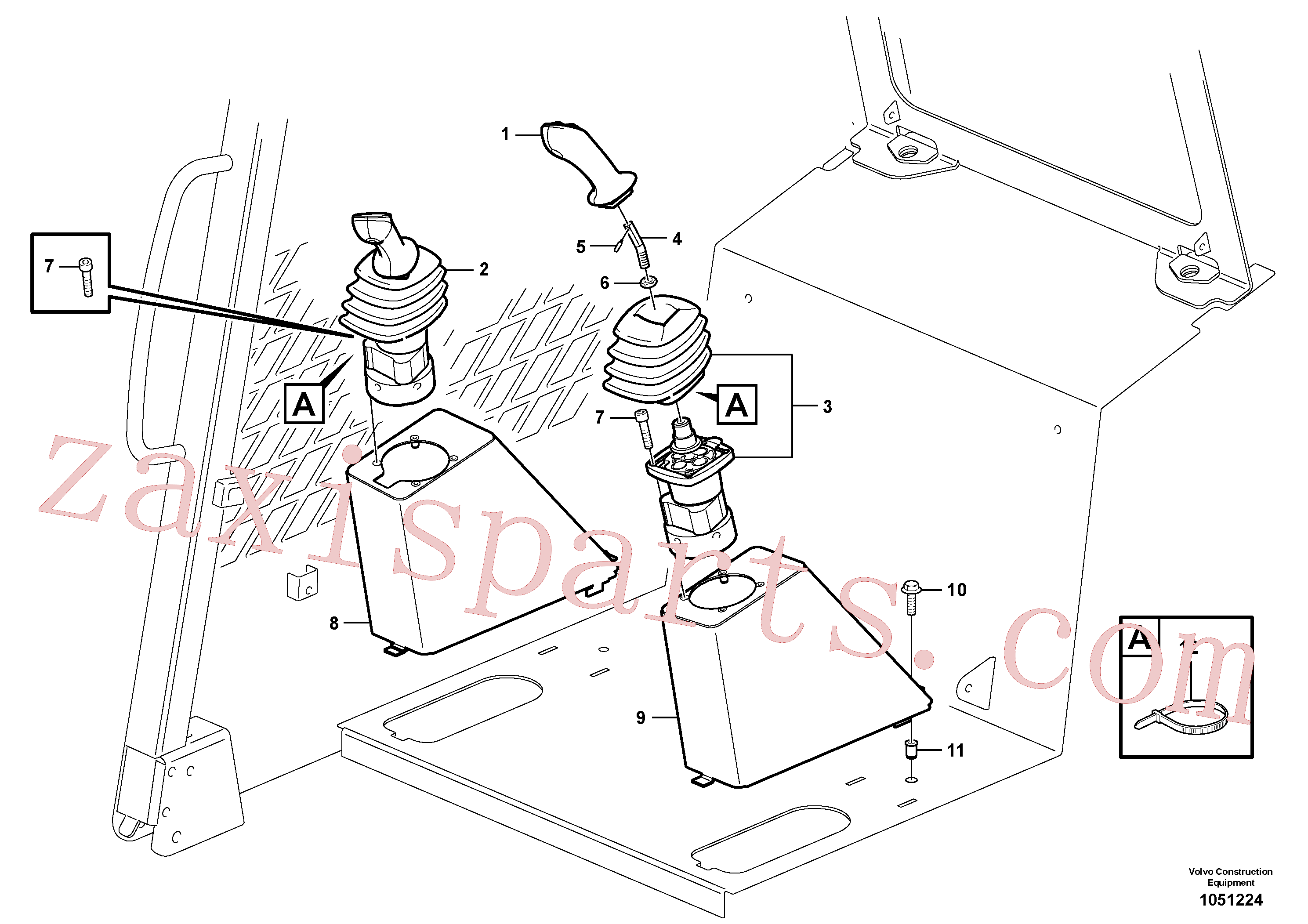 VOE971081 for Volvo Optional hand controls(1051224 assembly)