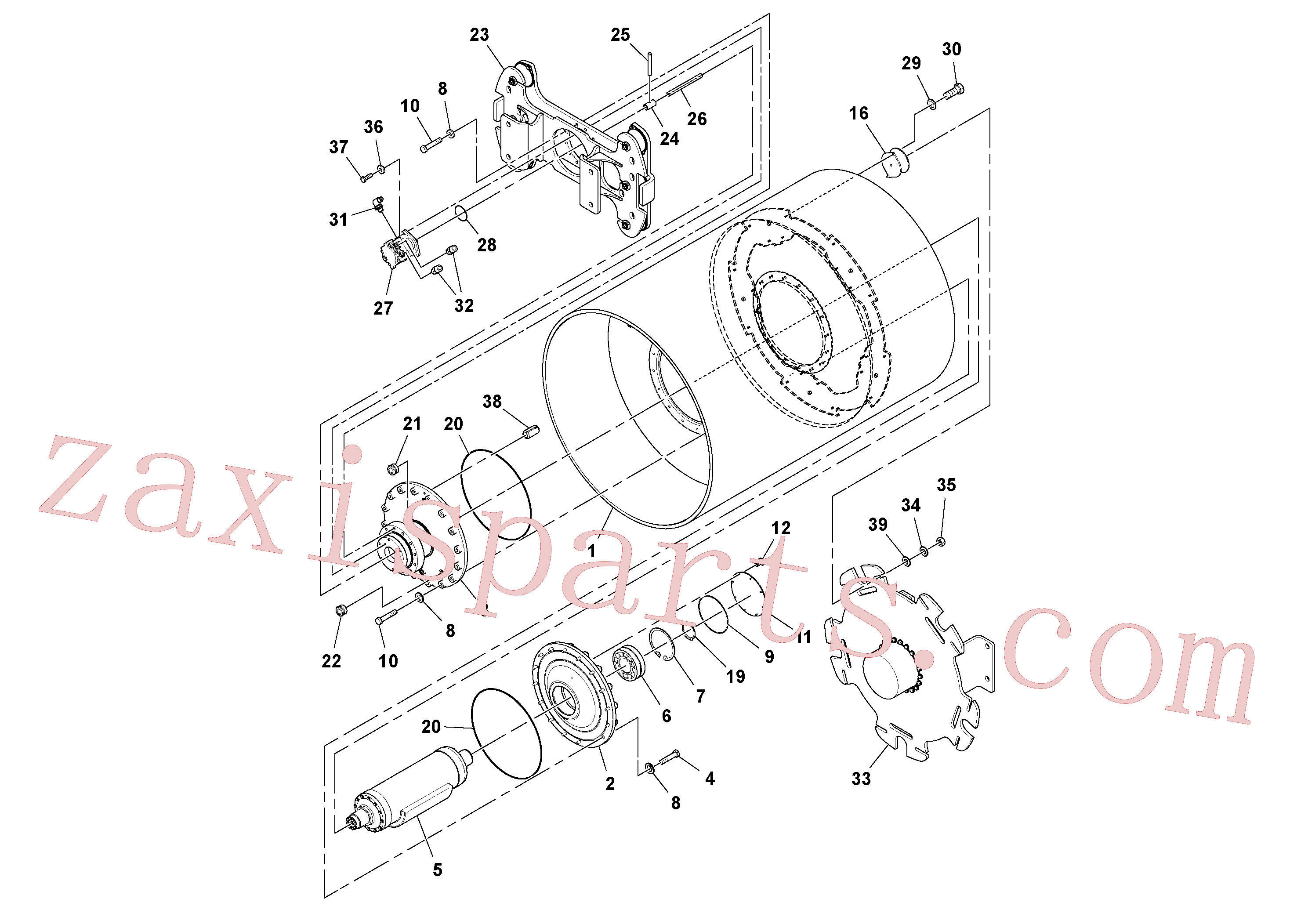 RM96711478 for Volvo Drum Assembly(1051295 assembly)