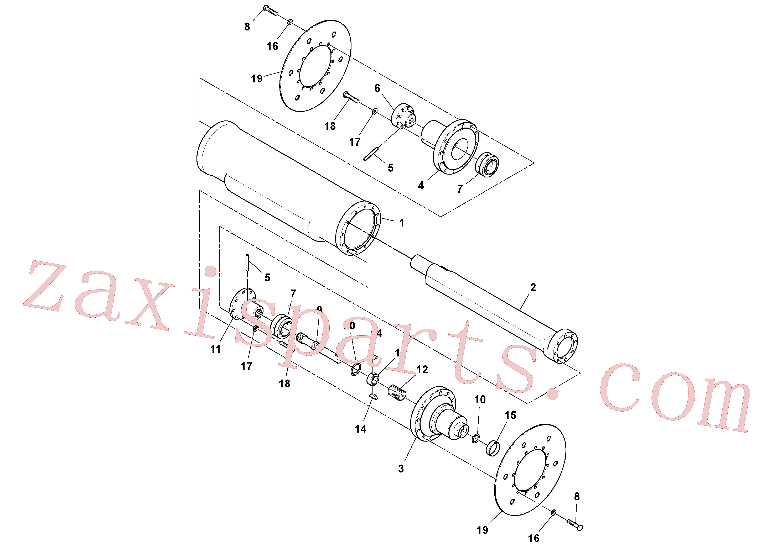 RM95373775 for Volvo Eccentric Shaft Assembly(1051443 assembly)