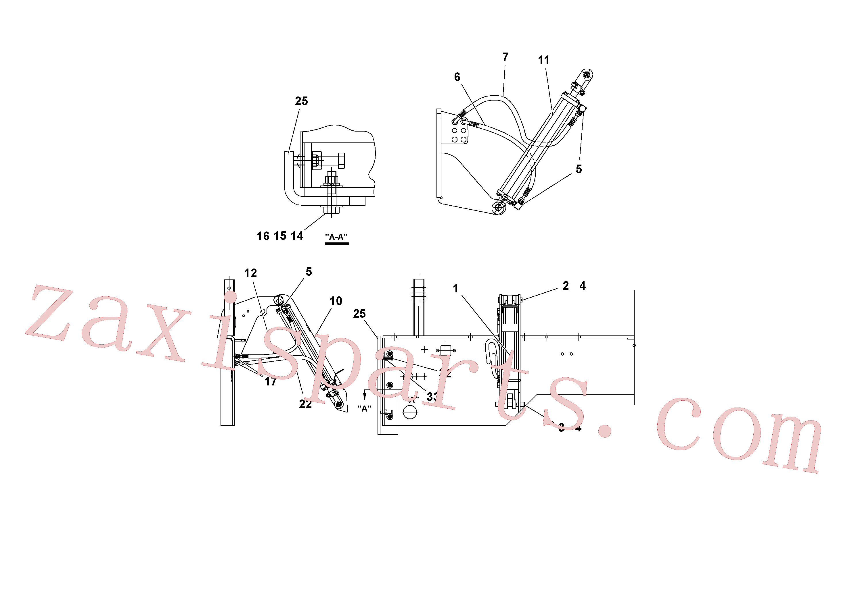 RM95922894 for Volvo Lifting hydraulic.(1052102 assembly)