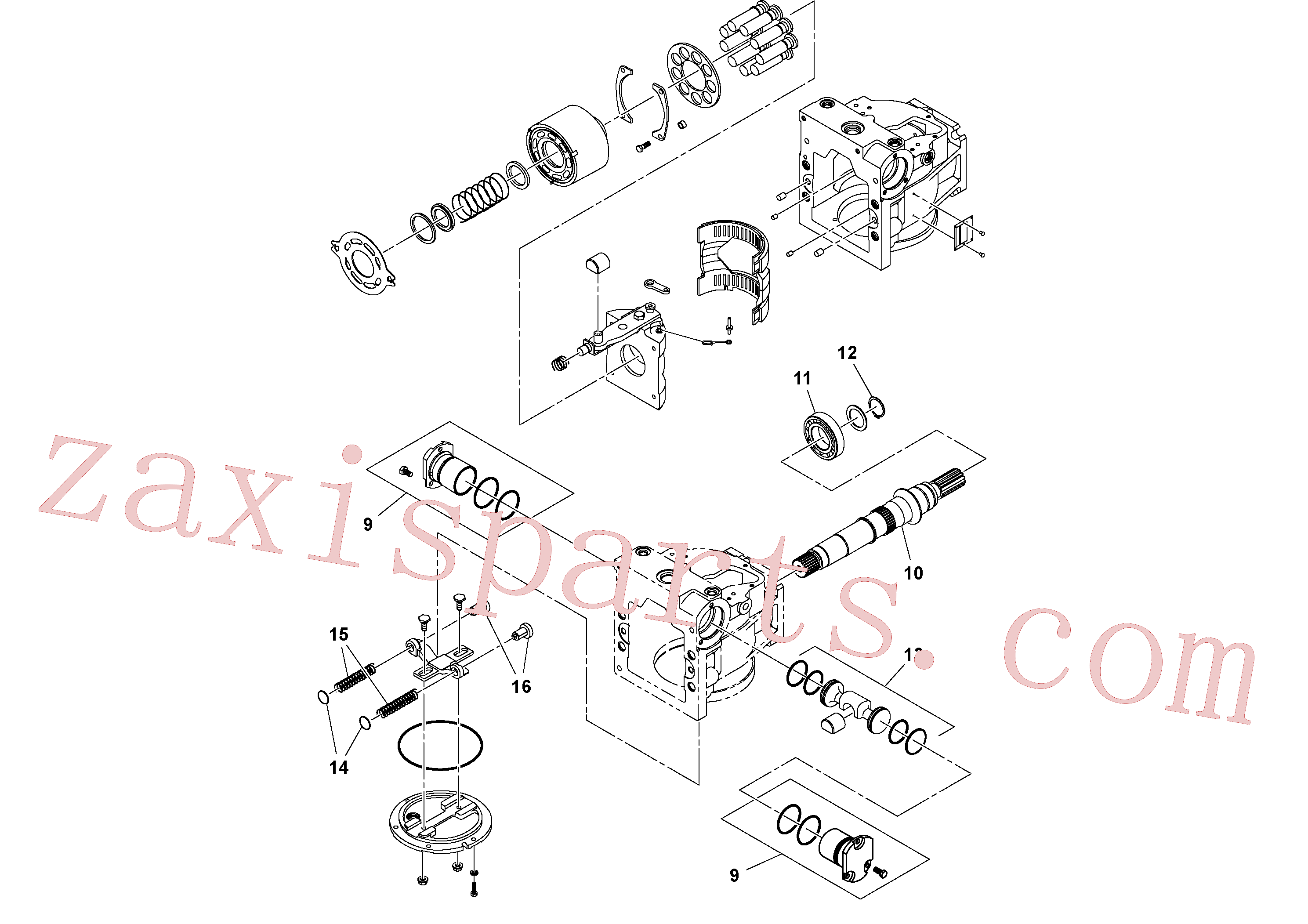 RM59395970 for Volvo Hydraulic pump(1052151 assembly)