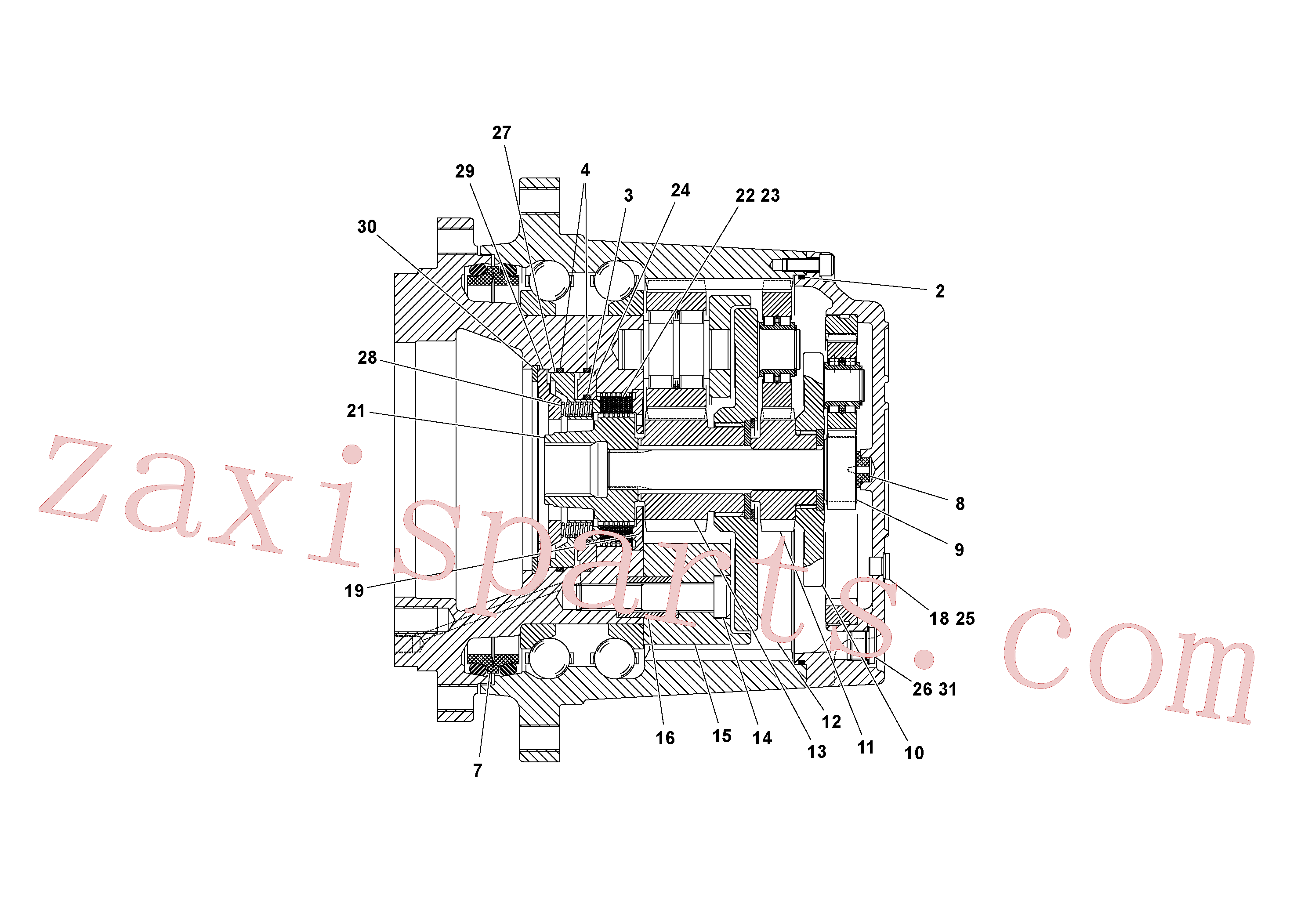 RM70921093 for Volvo Traction Drive Planetary Assembly(1053171 assembly)