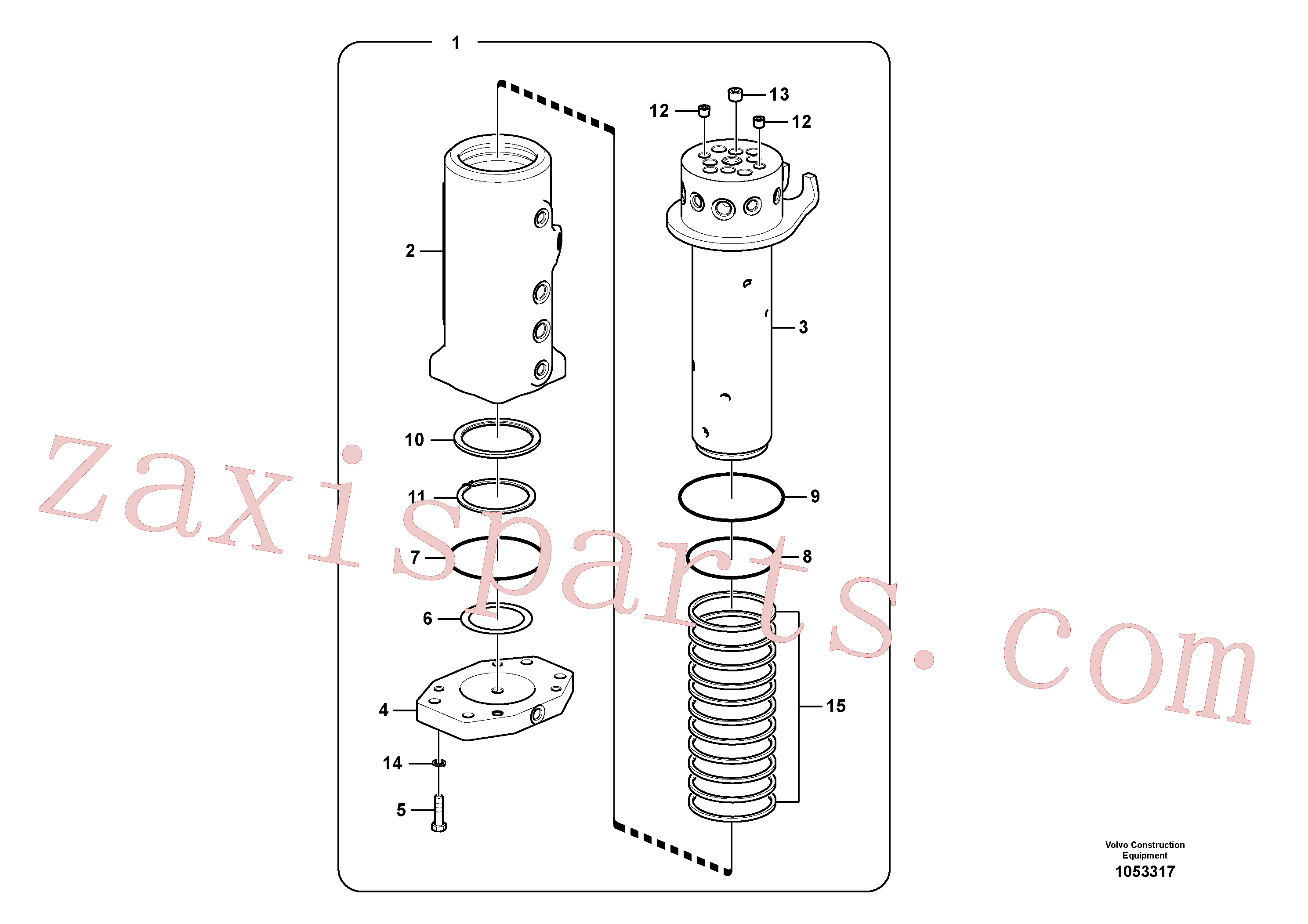 VOE990595 for Volvo Turning joint(1053317 assembly)