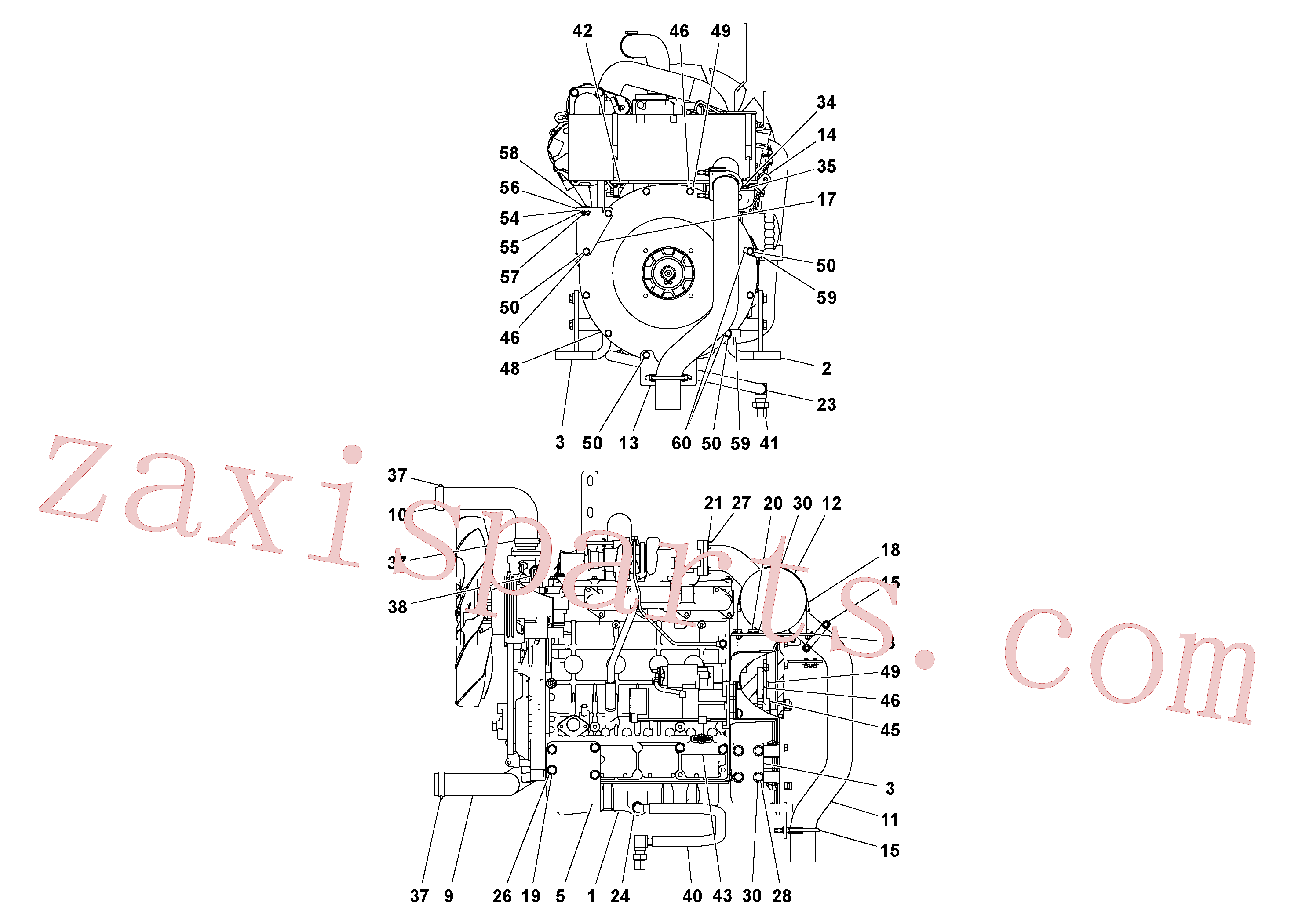 RM59580571 for Volvo Engine assembly(1054558 assembly)
