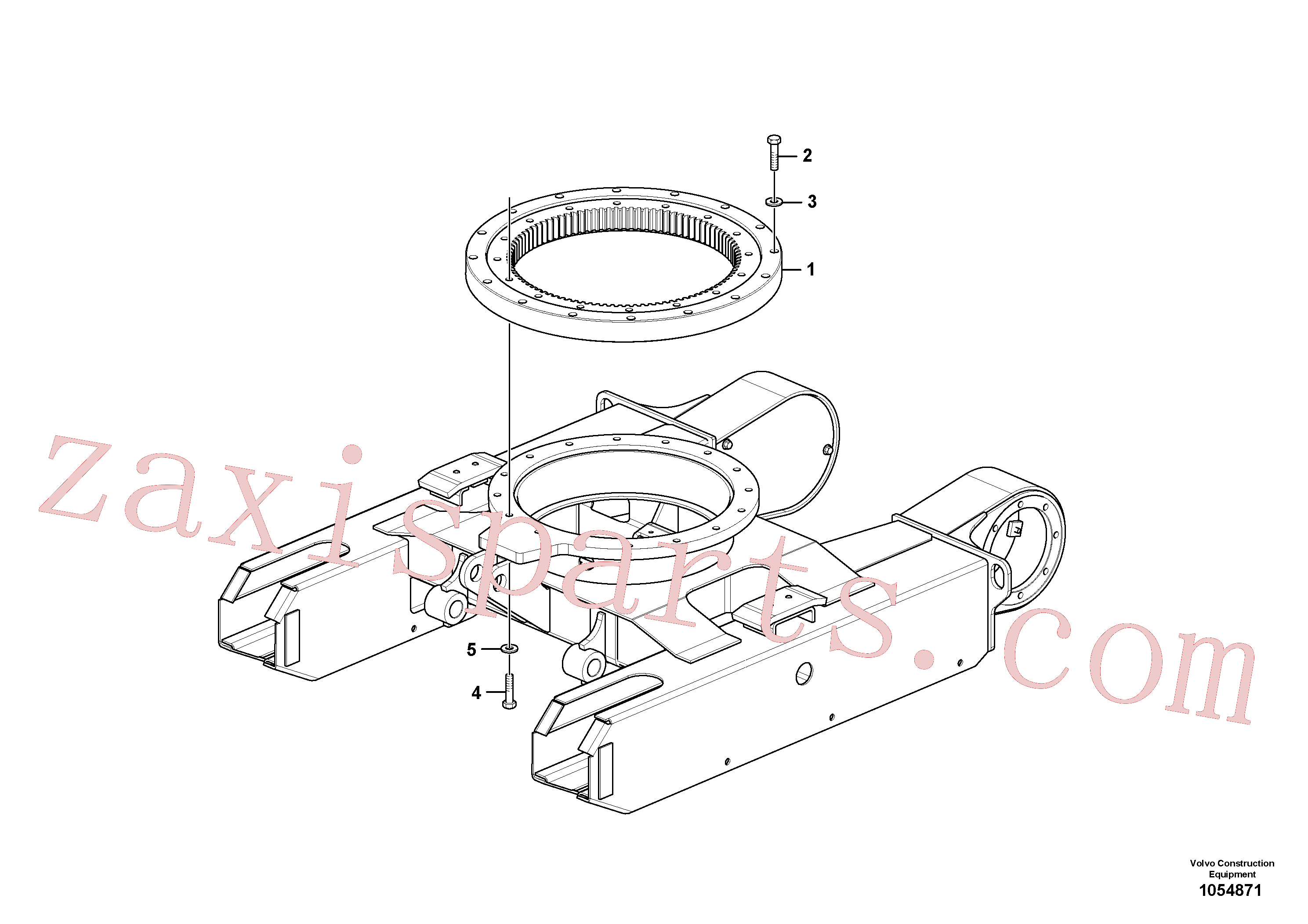 VOE15637869 for Volvo Slewing ring(1054871 assembly)