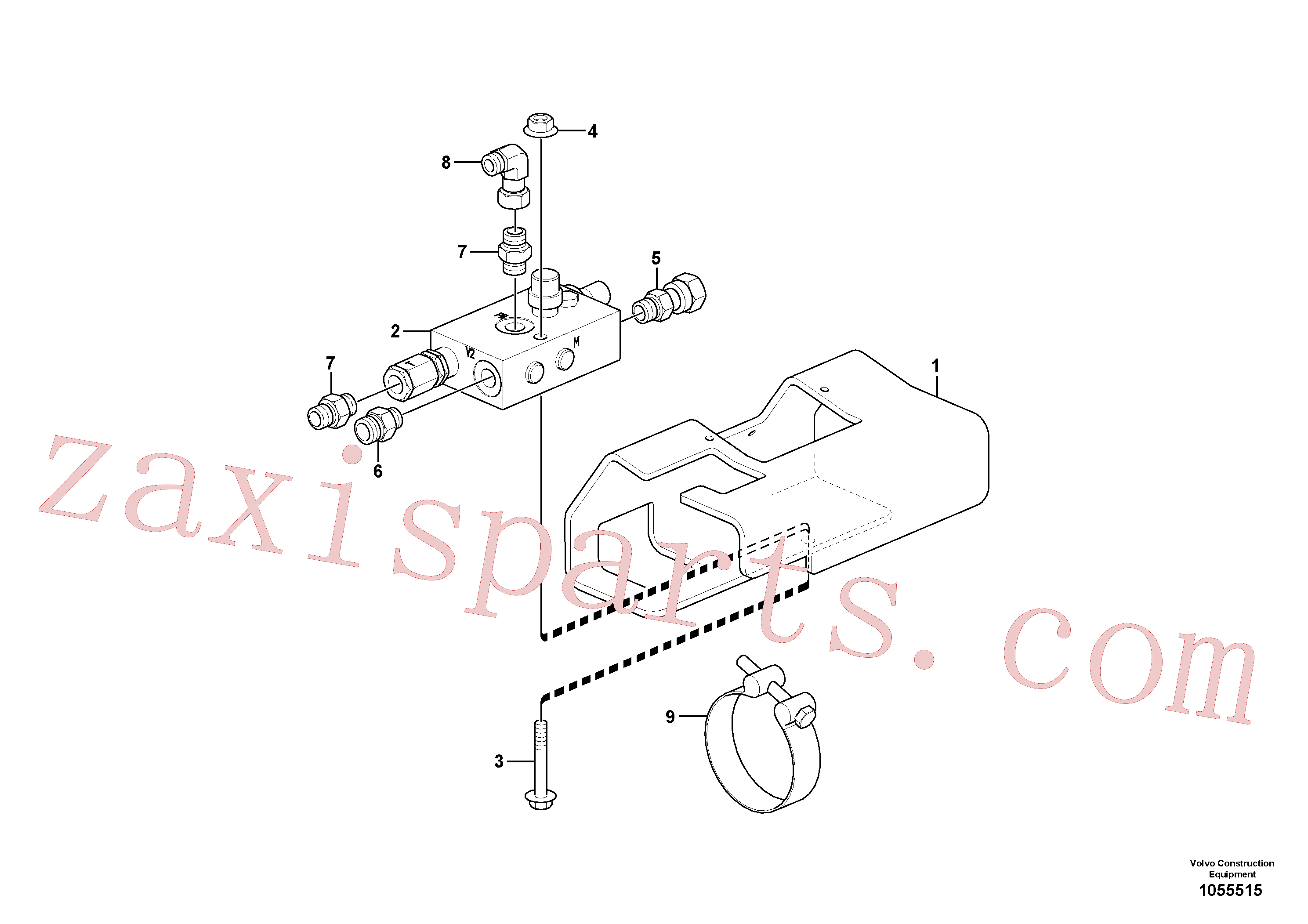 VOE15608283 for Volvo Safety valve ( dipper arm cylinder )(1055515 assembly)