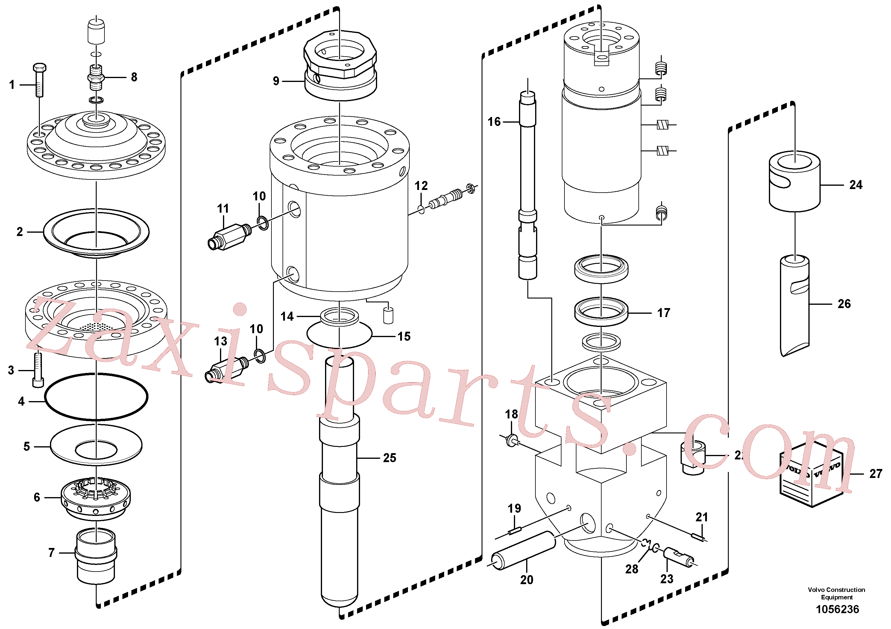 VOE11713134 for Volvo Hammer(1056236 assembly)
