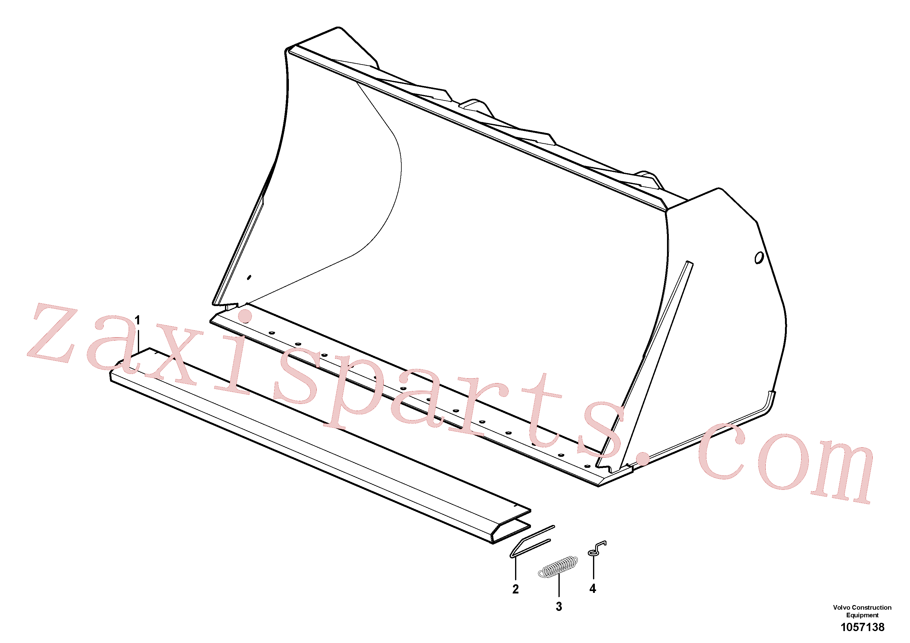 VOE11307550 for Volvo Protecting plate(1057138 assembly)