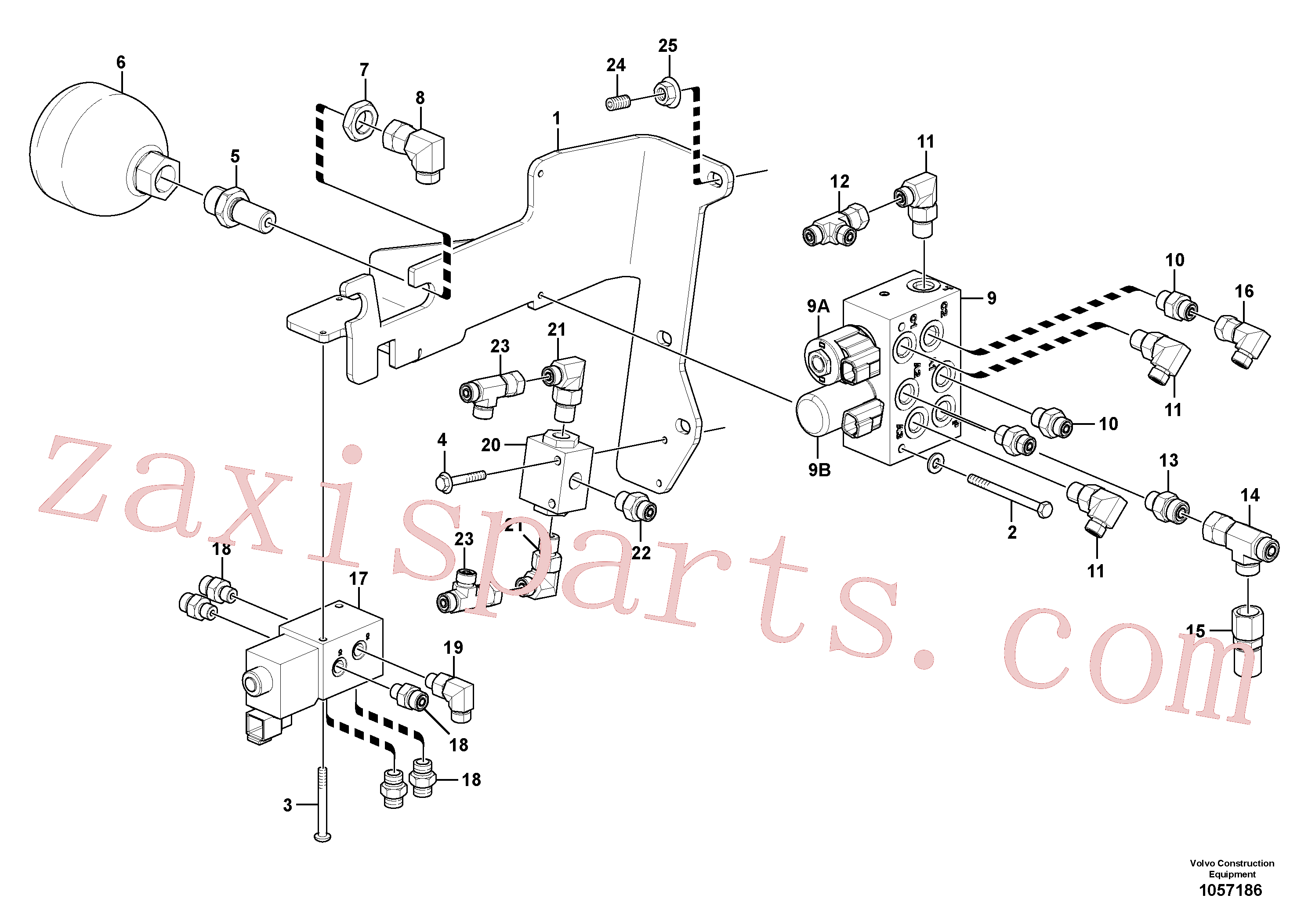 VOE13933859 for Volvo Low pressure hydraulic valves(1057186 assembly)