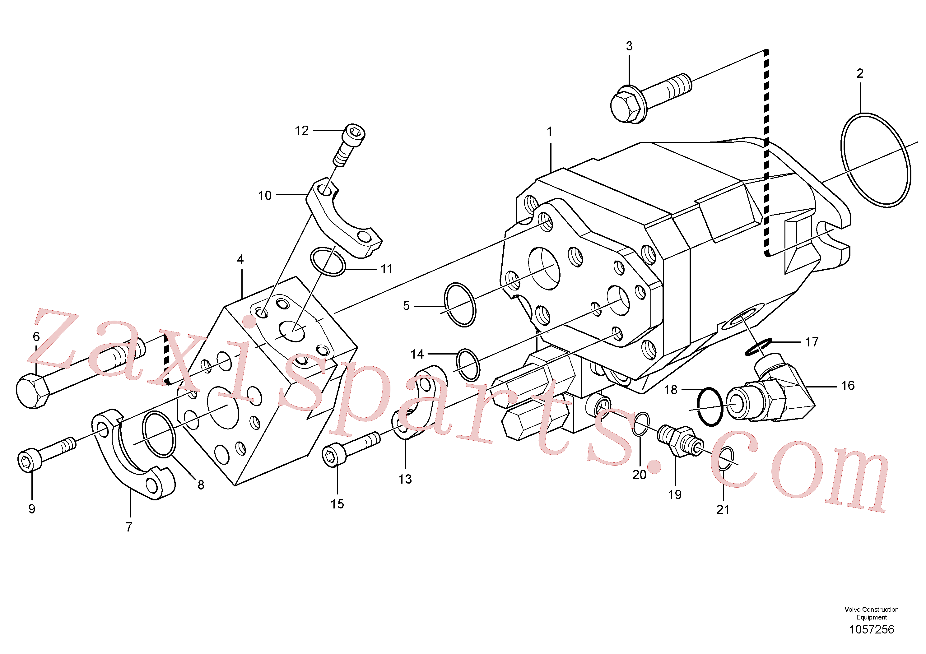 VOE944708 for Volvo Auxiliary steering system(1057256 assembly)