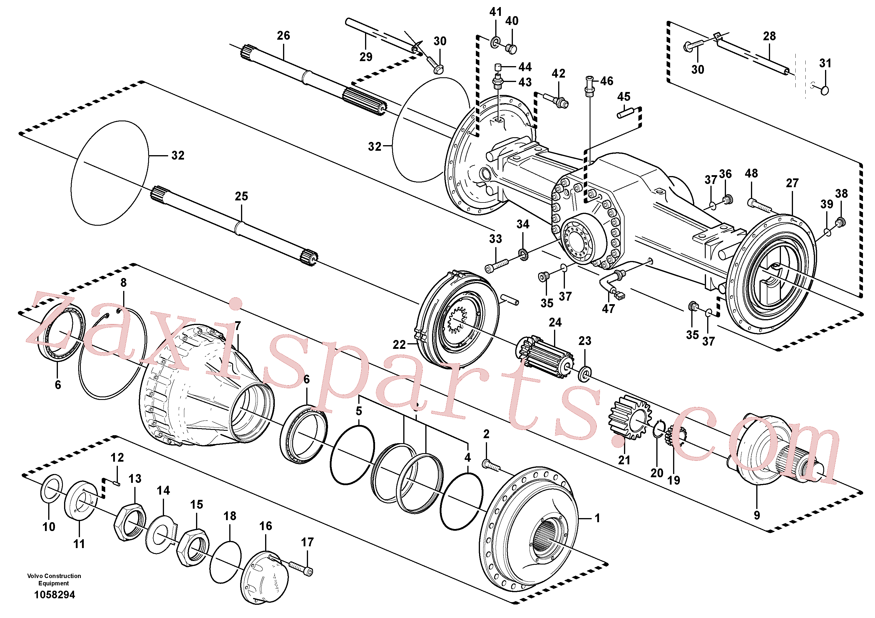 SA9541-01065 for Volvo Planetary axle, rear(1058294 assembly)