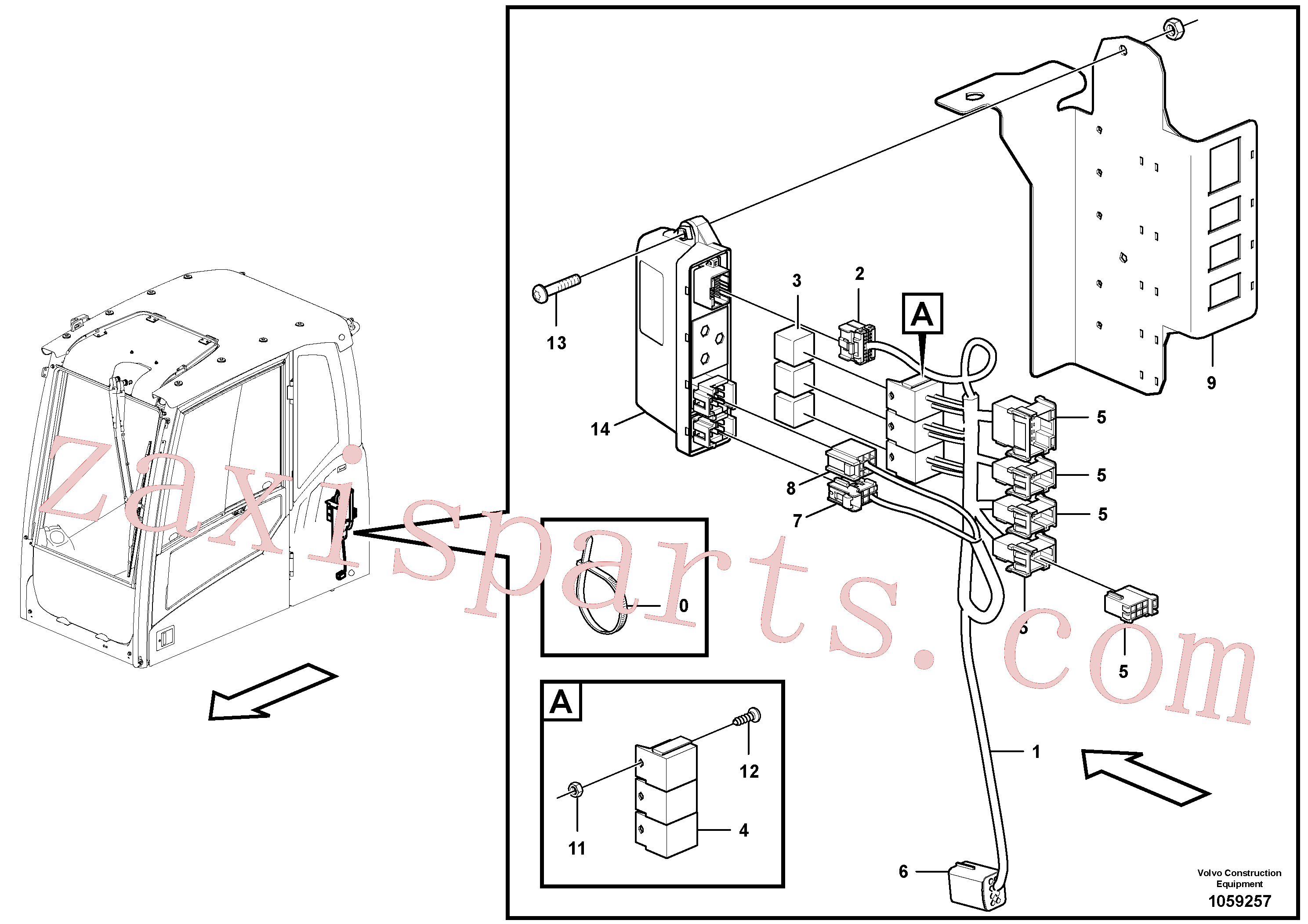 VOE955779 for Volvo Cable harness, rototilt(1059257 assembly)