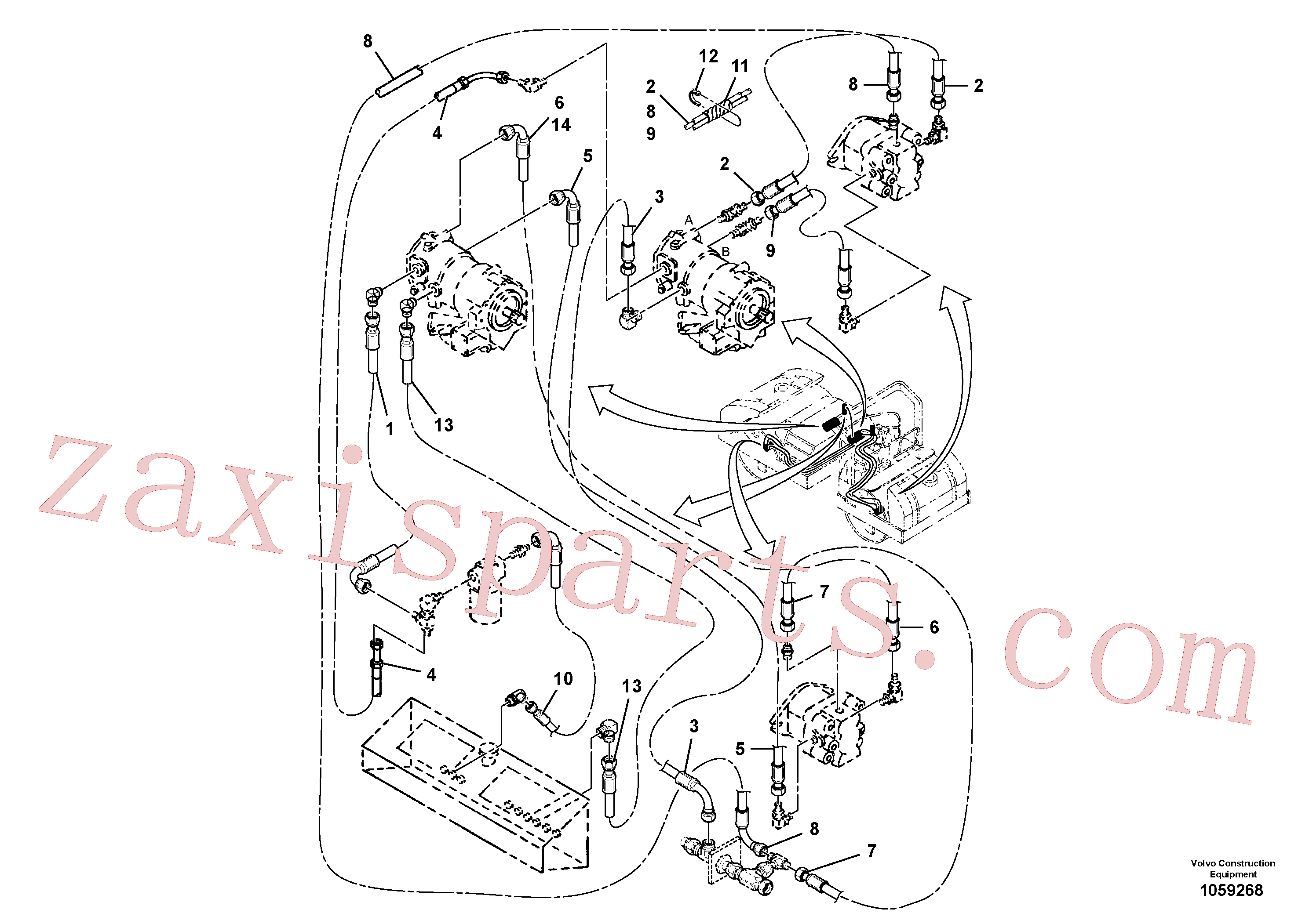 RM43901701 for Volvo Vibration Hoses Installation(1059268 assembly)