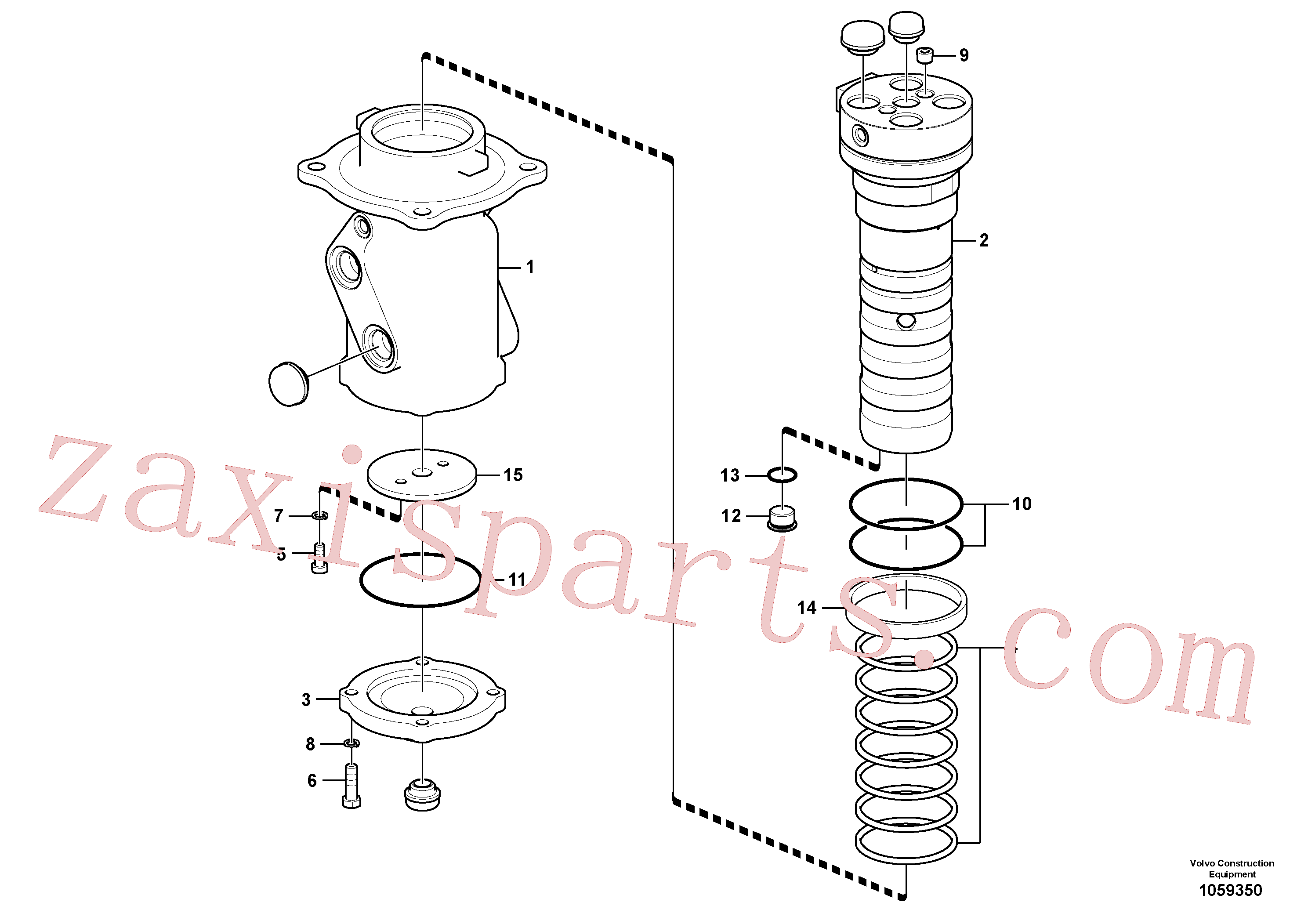 VOE14652656 for Volvo Turning joint(1059350 assembly)