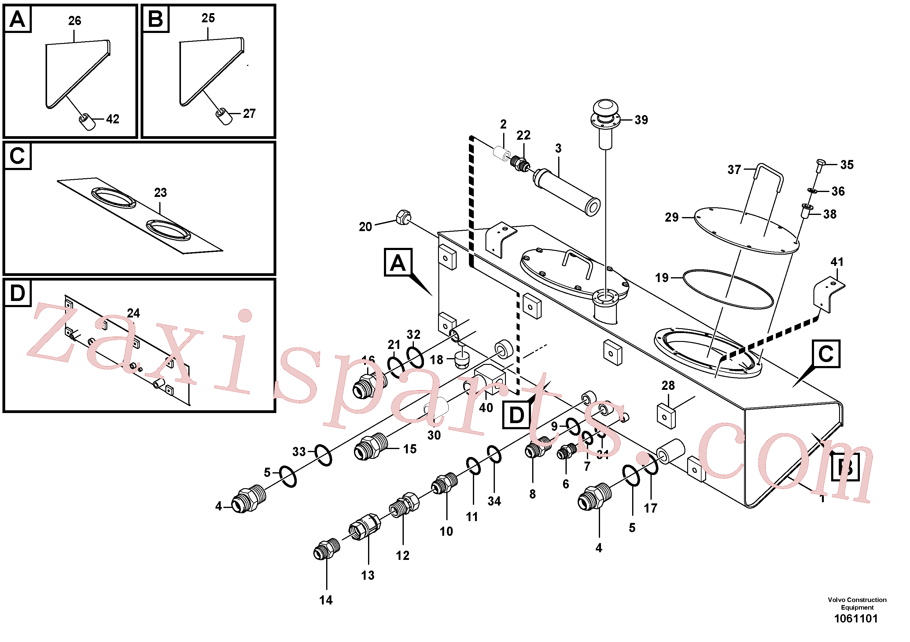 RM70856828 for Volvo Assembly Hydraulic Tank(1061101 assembly)