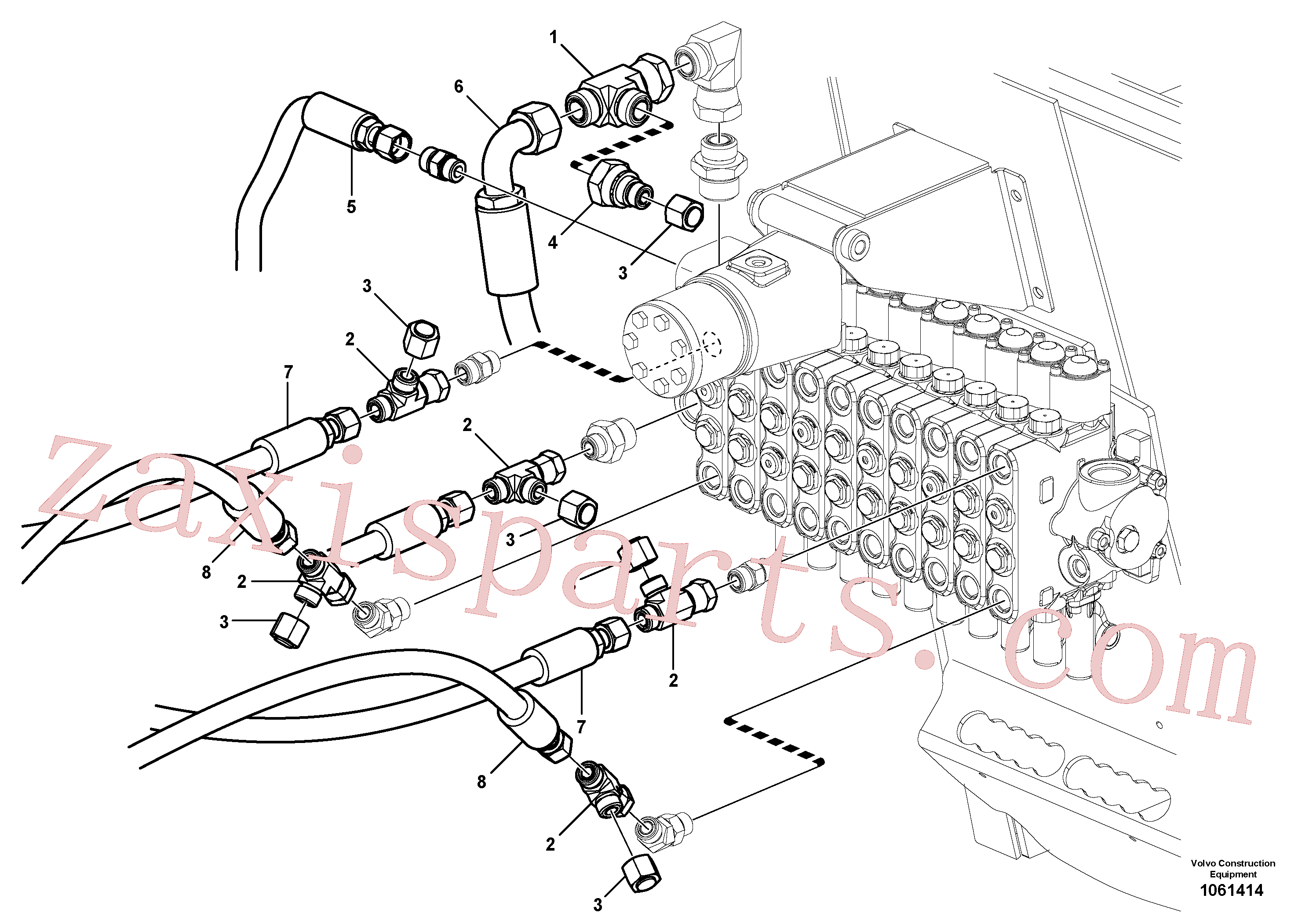 VOE15143398 for Volvo Blade lift circuit(1061414 assembly)