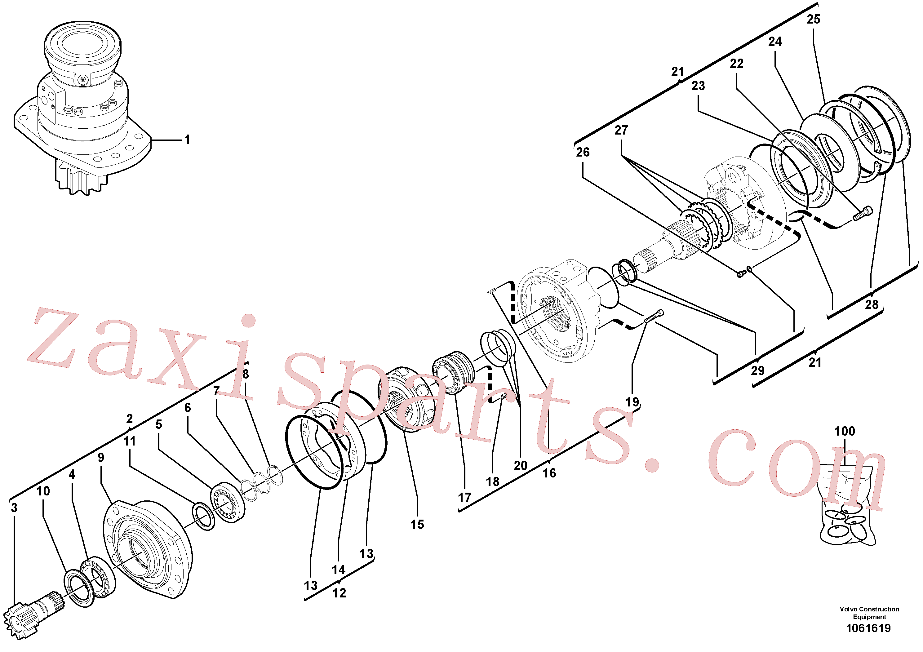 RM13281696 for Volvo Slewing gear motor(1061619 assembly)