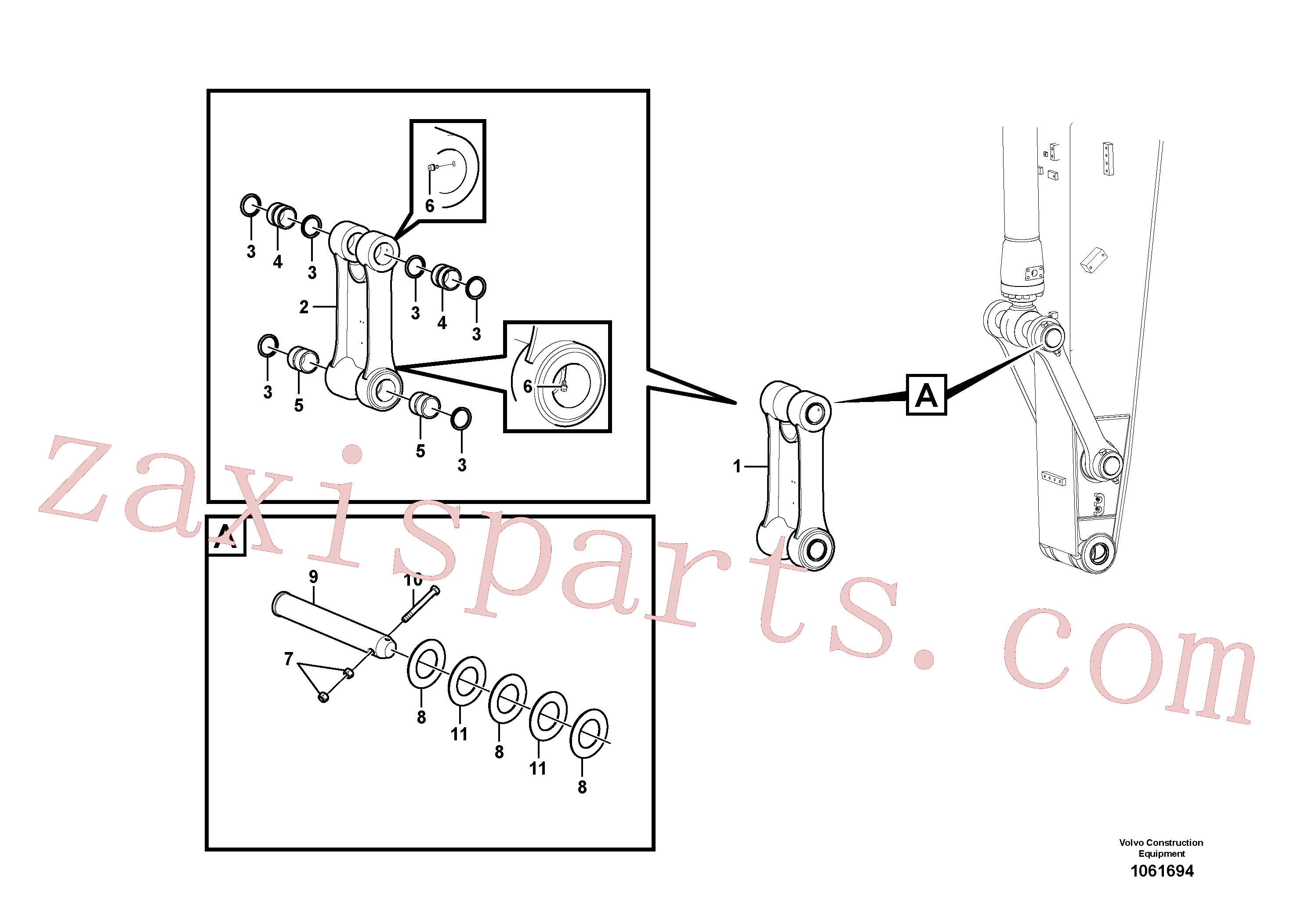 SA1173-00590 for Volvo Links to connecting rod(1061694 assembly)