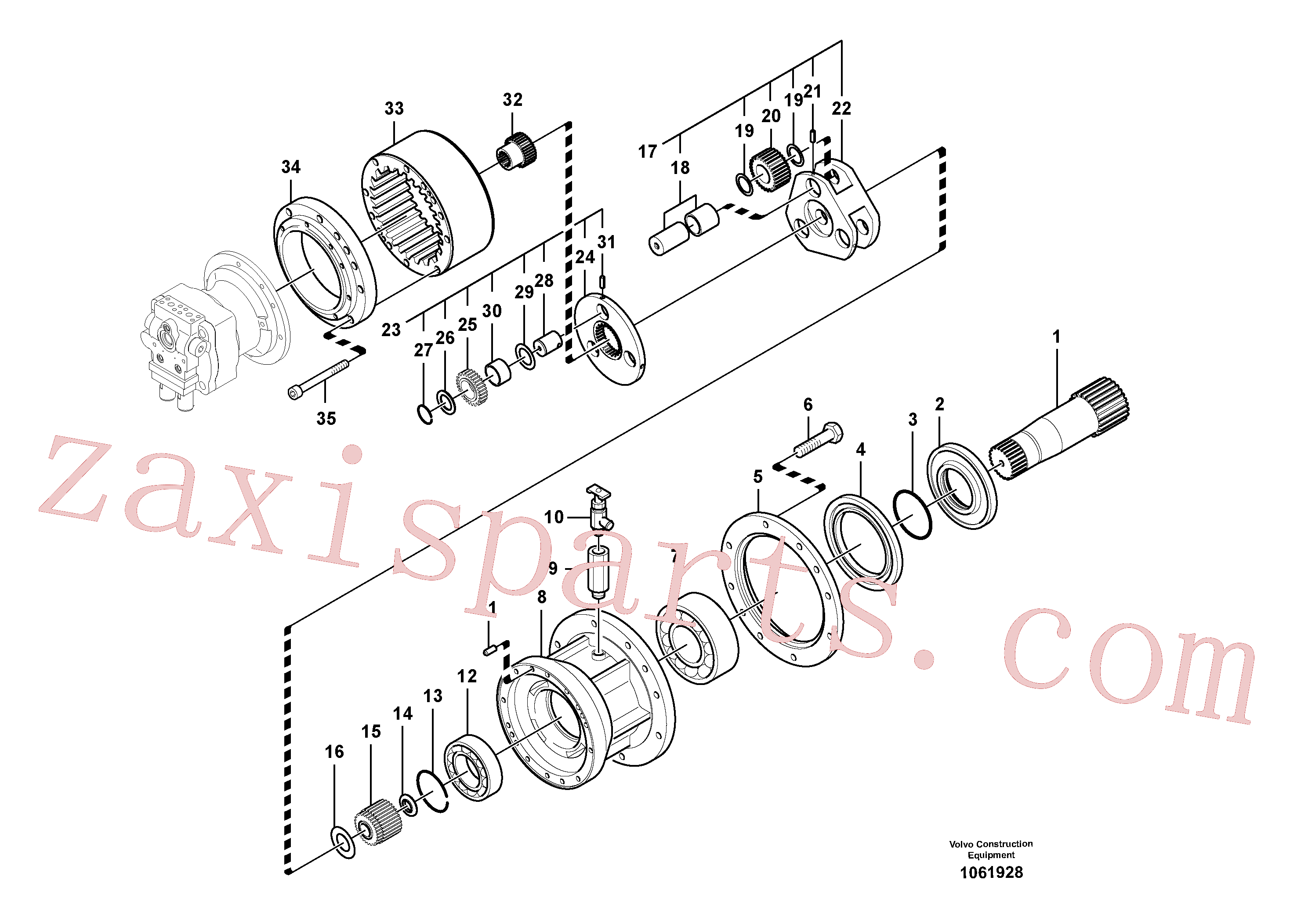 SA7118-30460 for Volvo Swing gearbox(1061928 assembly)