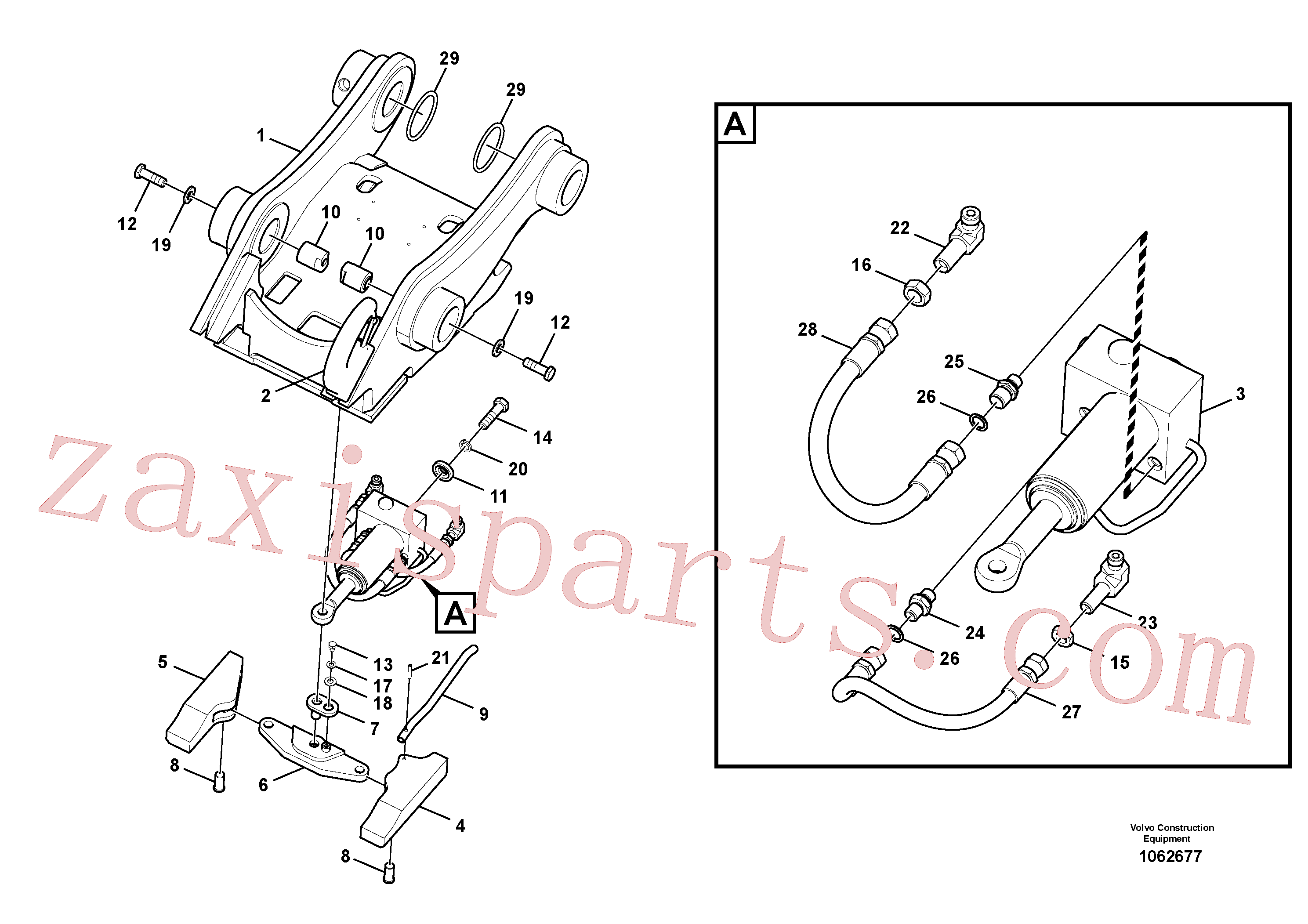 VOE14557800 for Volvo Attachment bracket, quickfit(1062677 assembly)