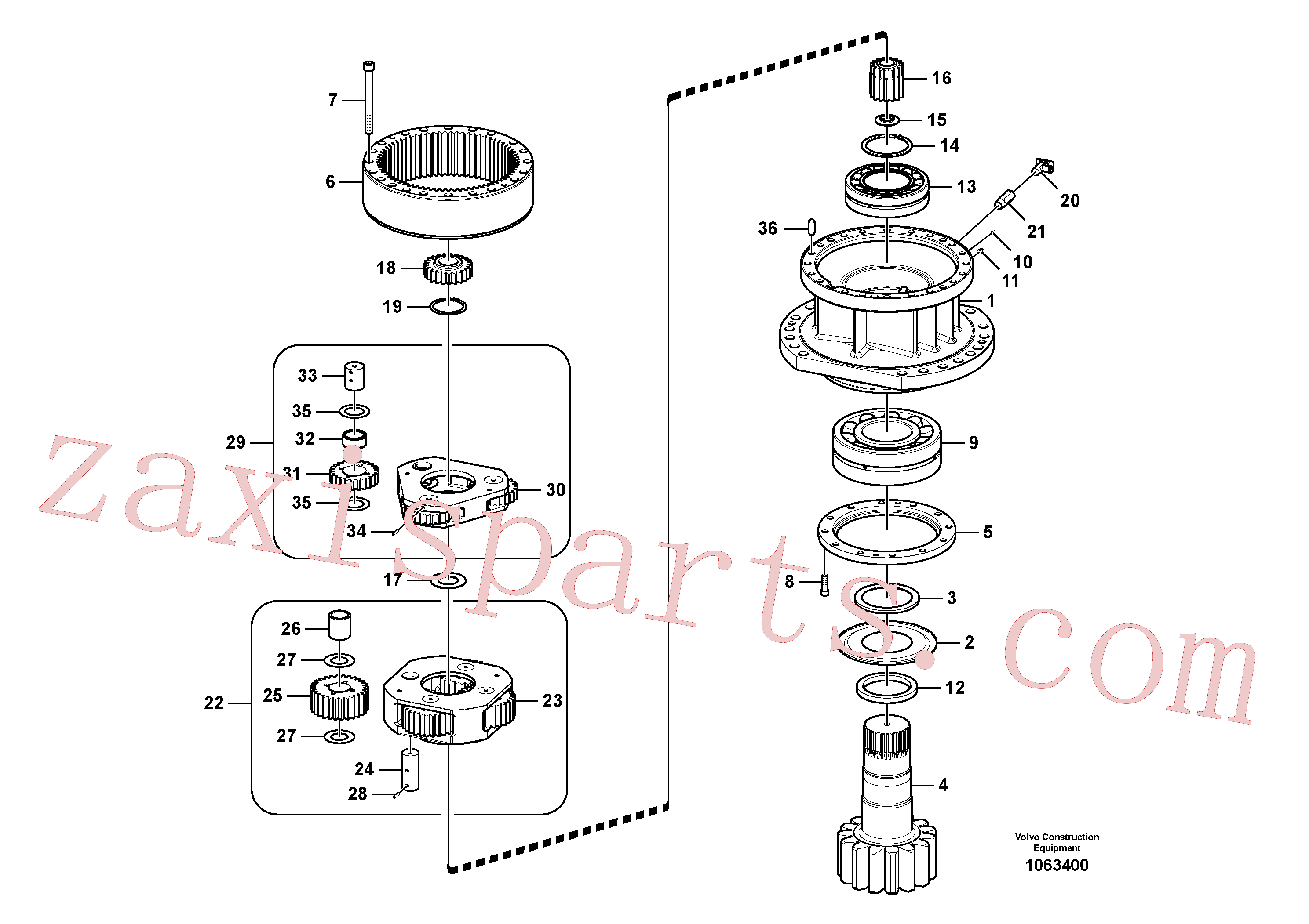 VOE14547277 for Volvo Swing gearbox(1063400 assembly)