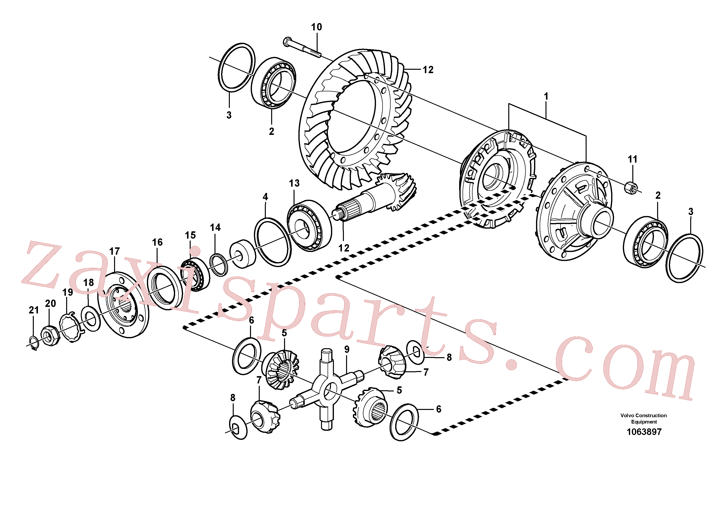 VOE11035920 for Volvo Final drive, rear(1063897 assembly)