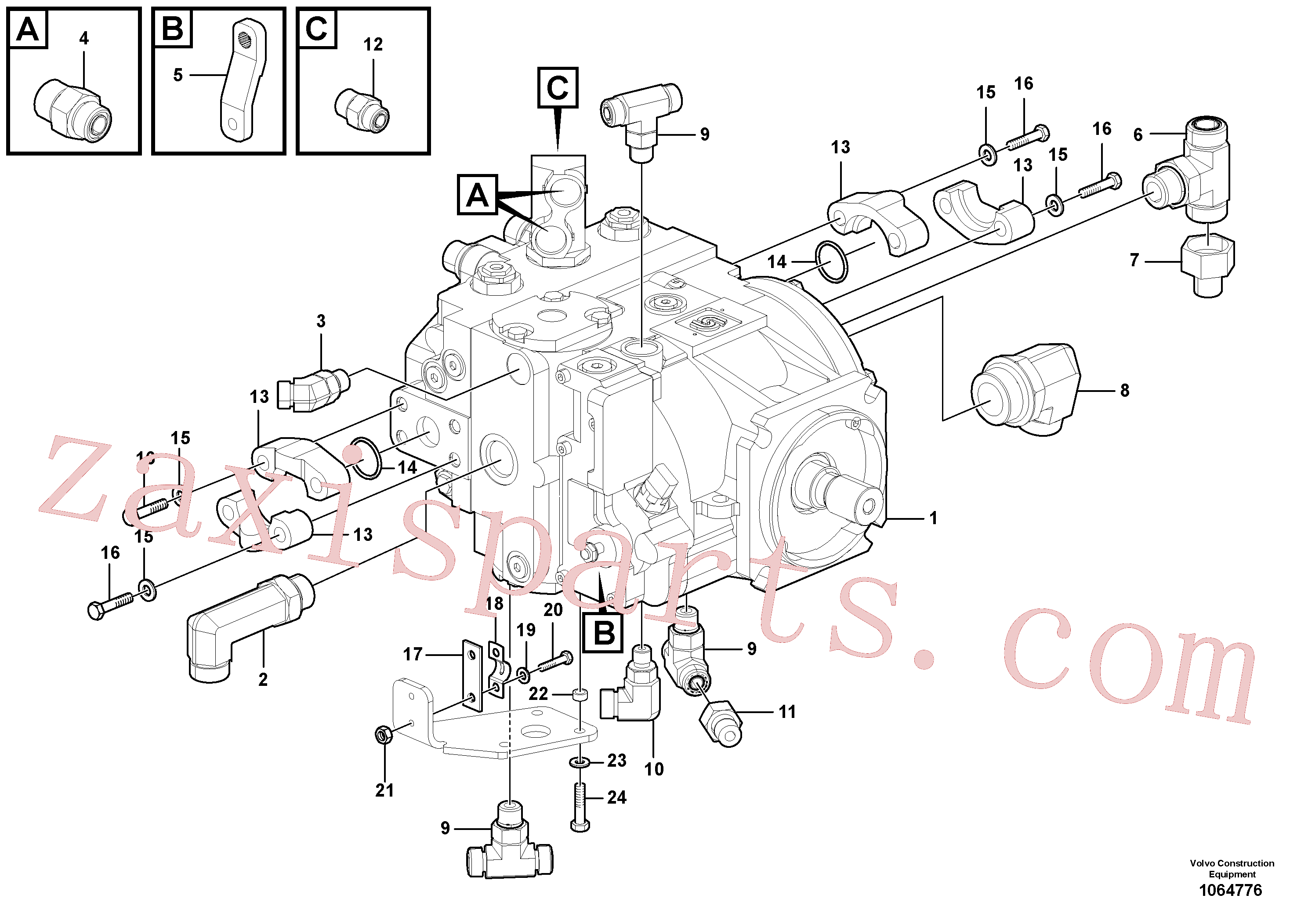 RM59922849 for Volvo Propulsion Pump(1064776 assembly)