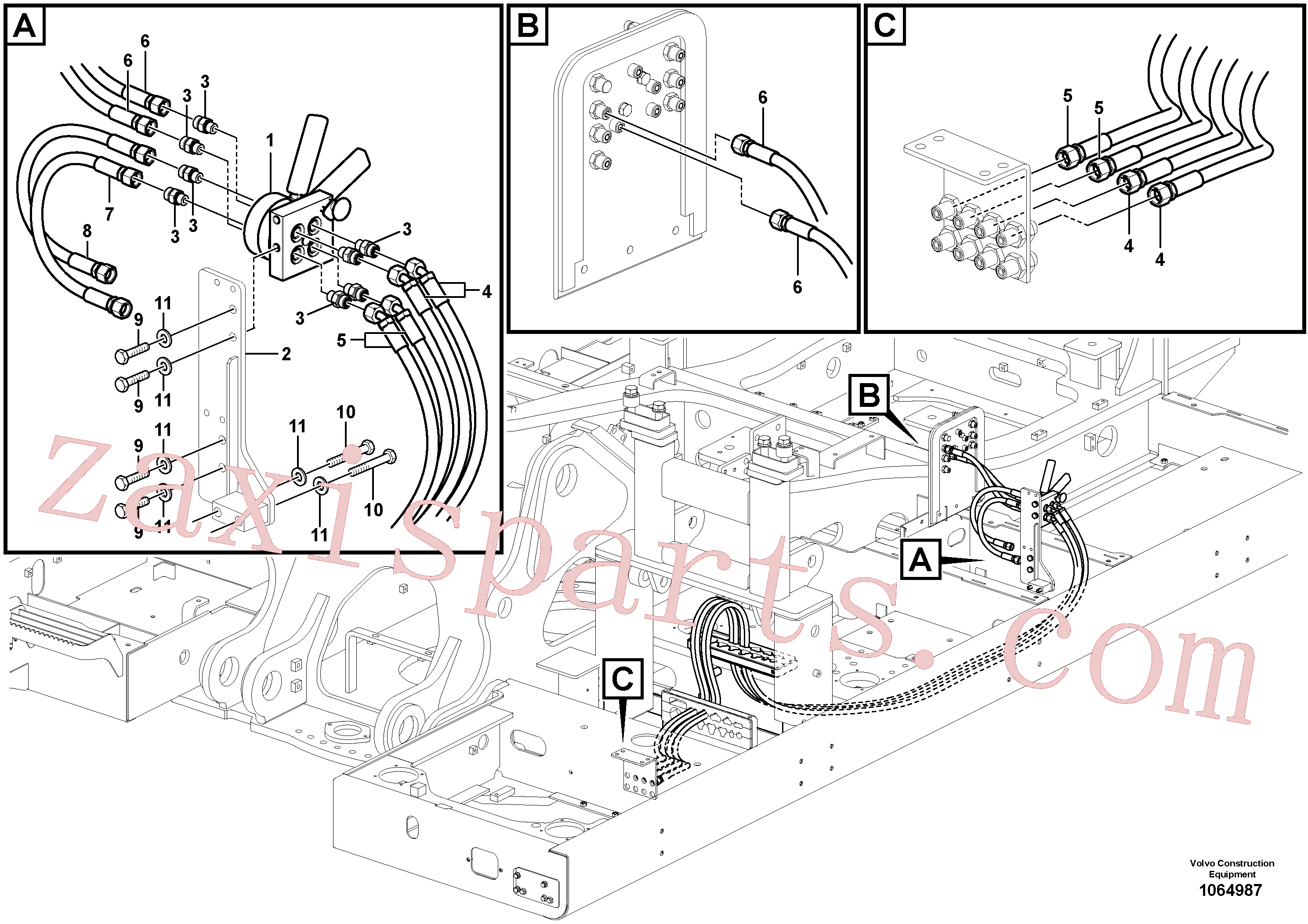 SA1010-11360 for Volvo Servo system, changing lever function(1064987 assembly)