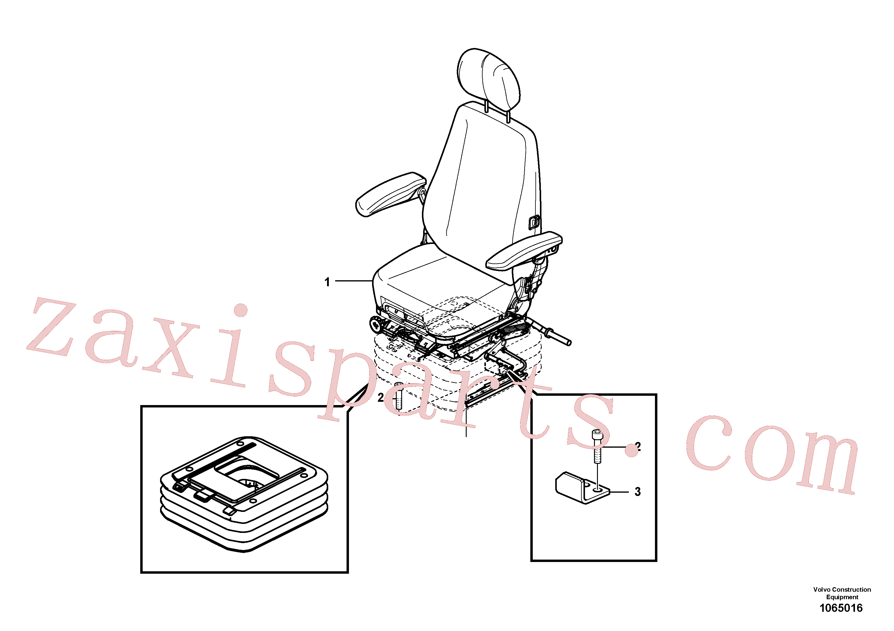 VOE994823 for Volvo Operator seat with fitting parts(1065016 assembly)