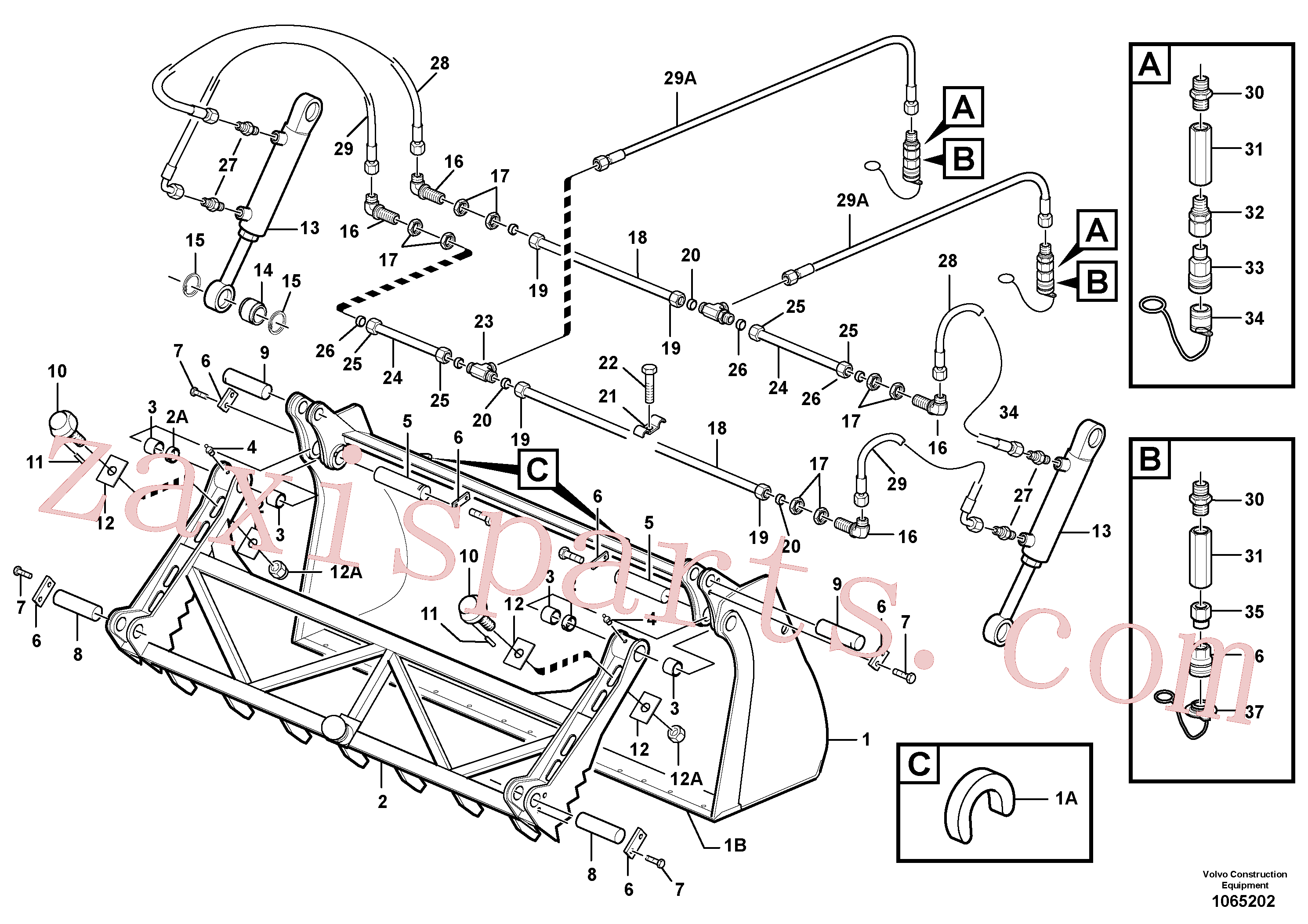 VOE11305362 for Volvo Clamp bucket(1065202 assembly)