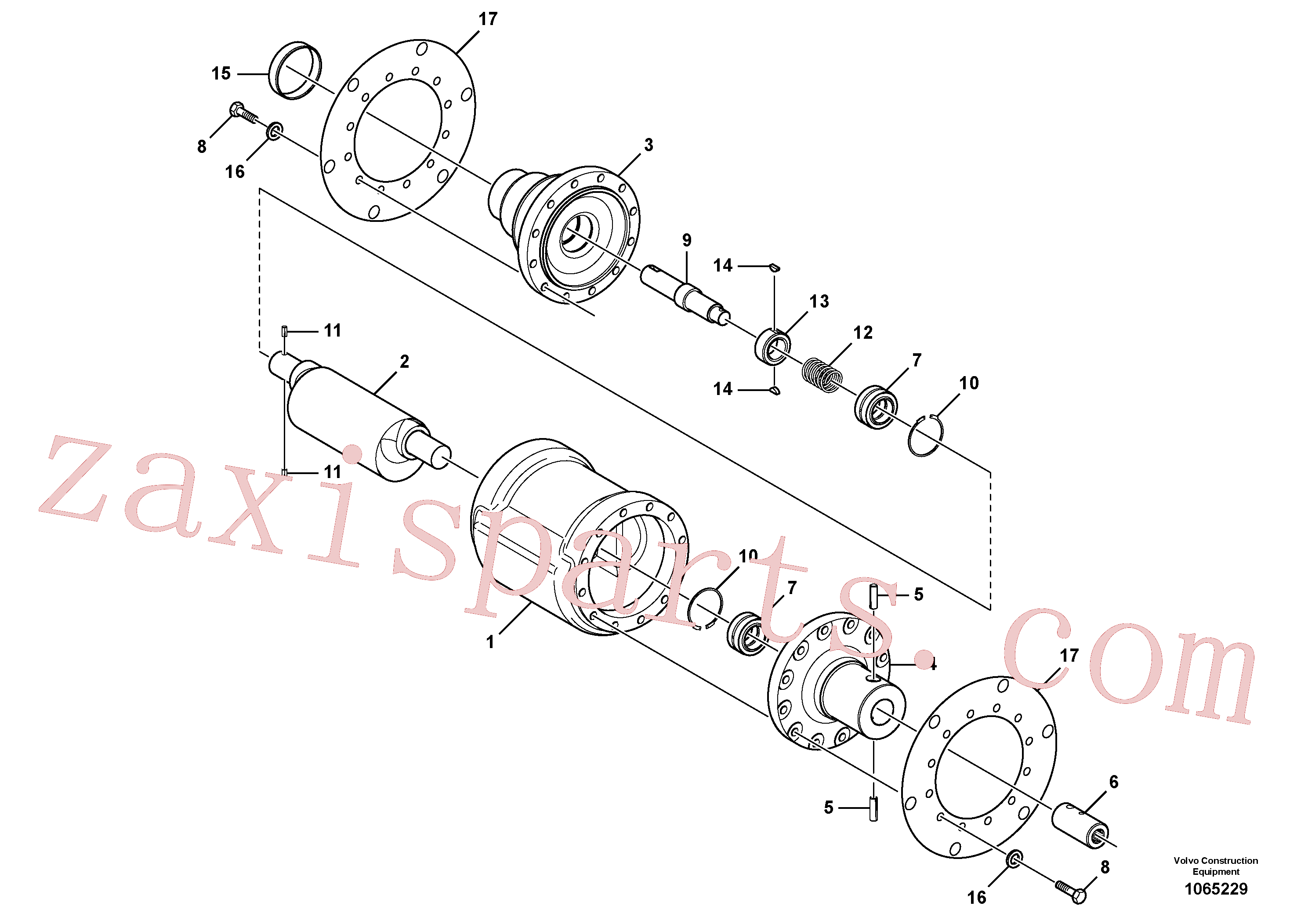 RM95373775 for Volvo Eccentric Shaft Assembly(1065229 assembly)